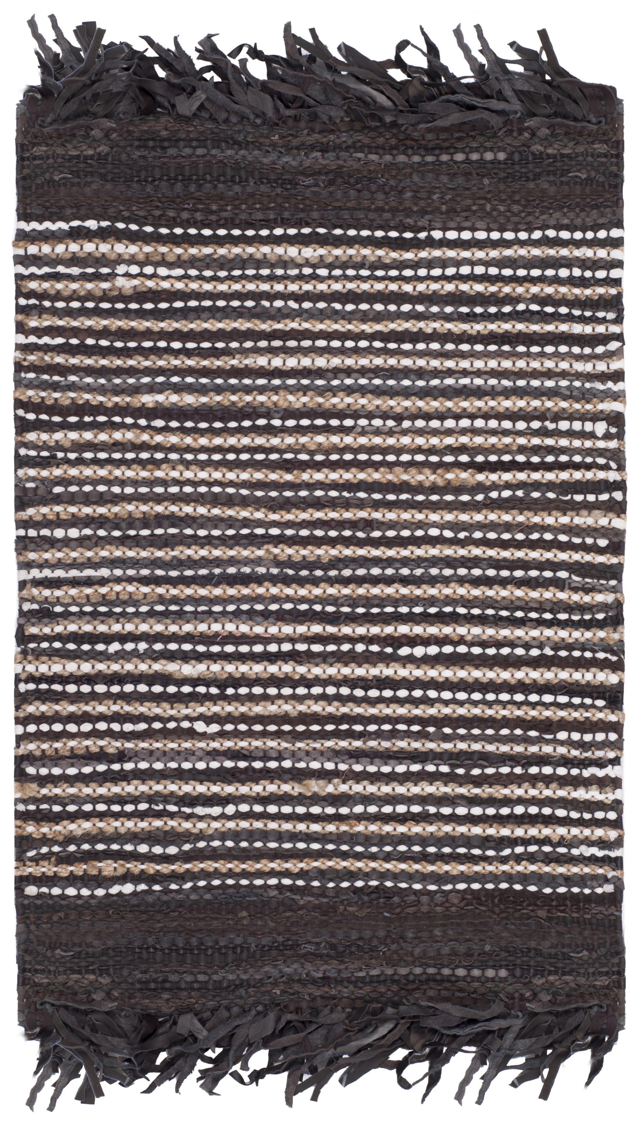 Glostrup Hand Tufted Dark Brown Area Rug Rug Size: Rectangle 6' x 9'