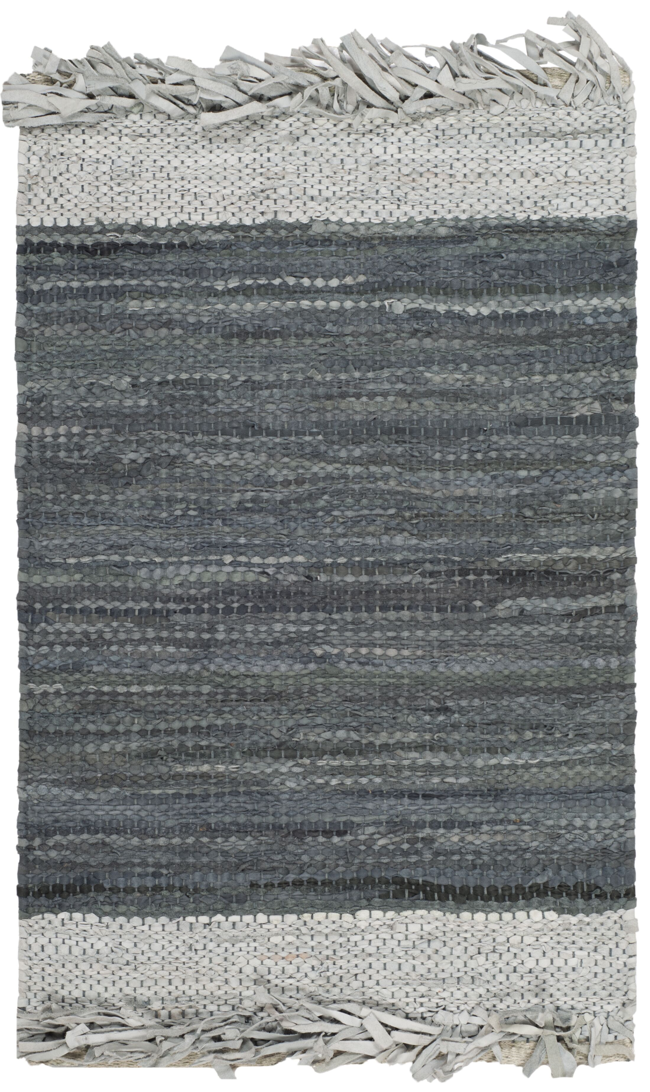 Glostrup Hand Knotted Light Gray Area Rug Rug Size: Rectangle 5' x 8'