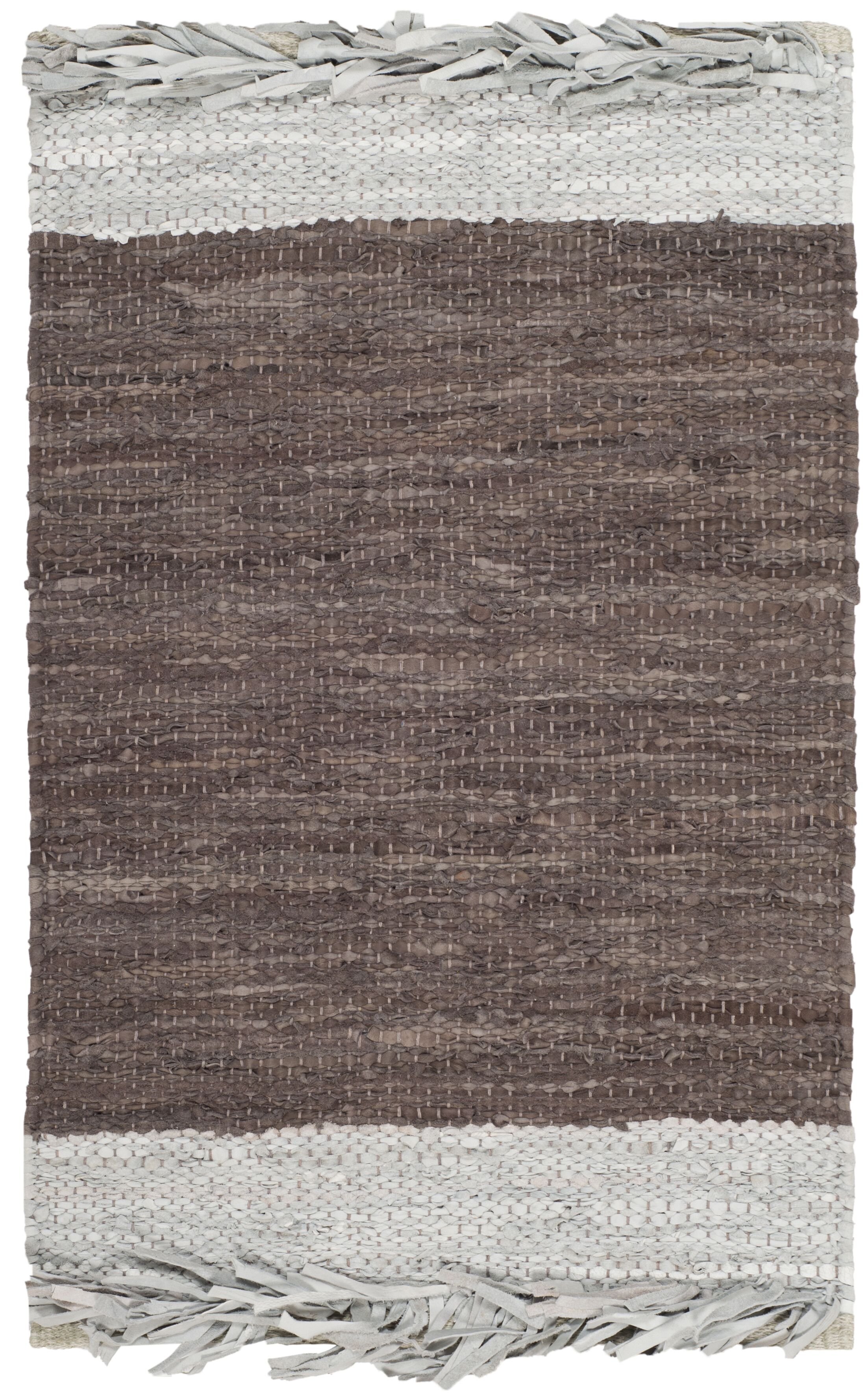 Glostrup Contemporary Hand Hooked Brown Area Rug Rug Size: Rectangle 8' x 10'