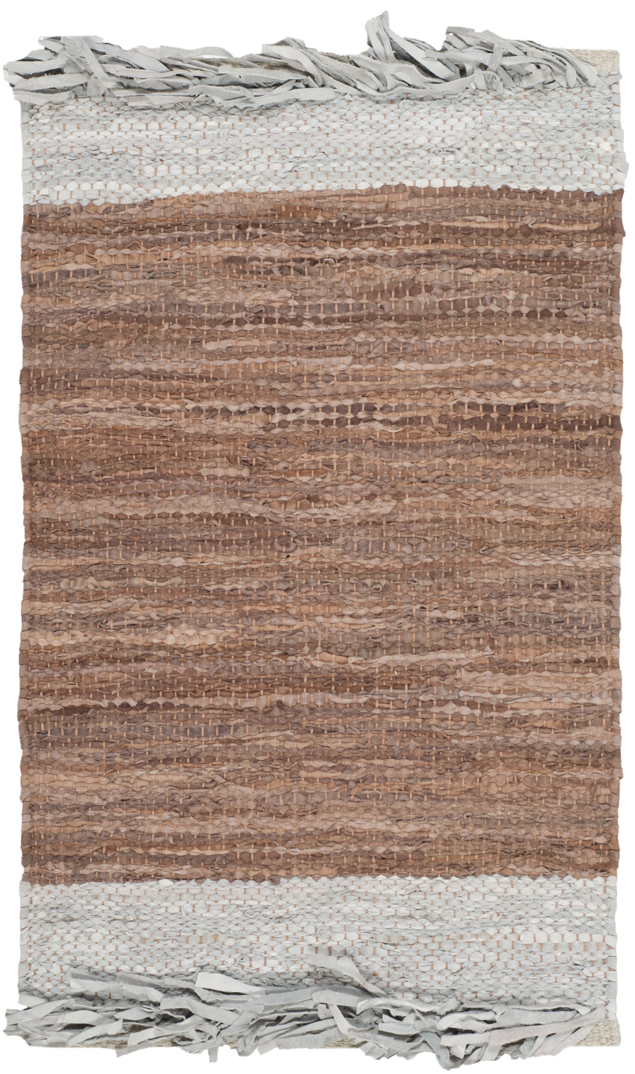 Glostrup Hand Hooked Brown Area Rug Rug Size: Rectangle 6' x 9'