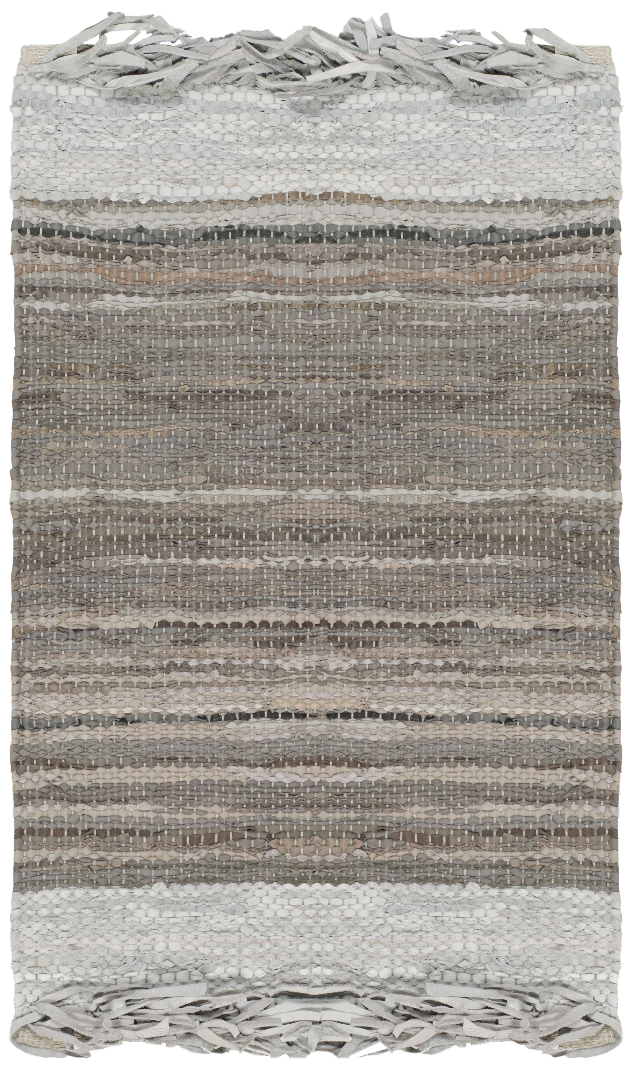 Glostrup Hand Hooked Light Gray Area Rug Rug Size: Rectangle 4' x 6'