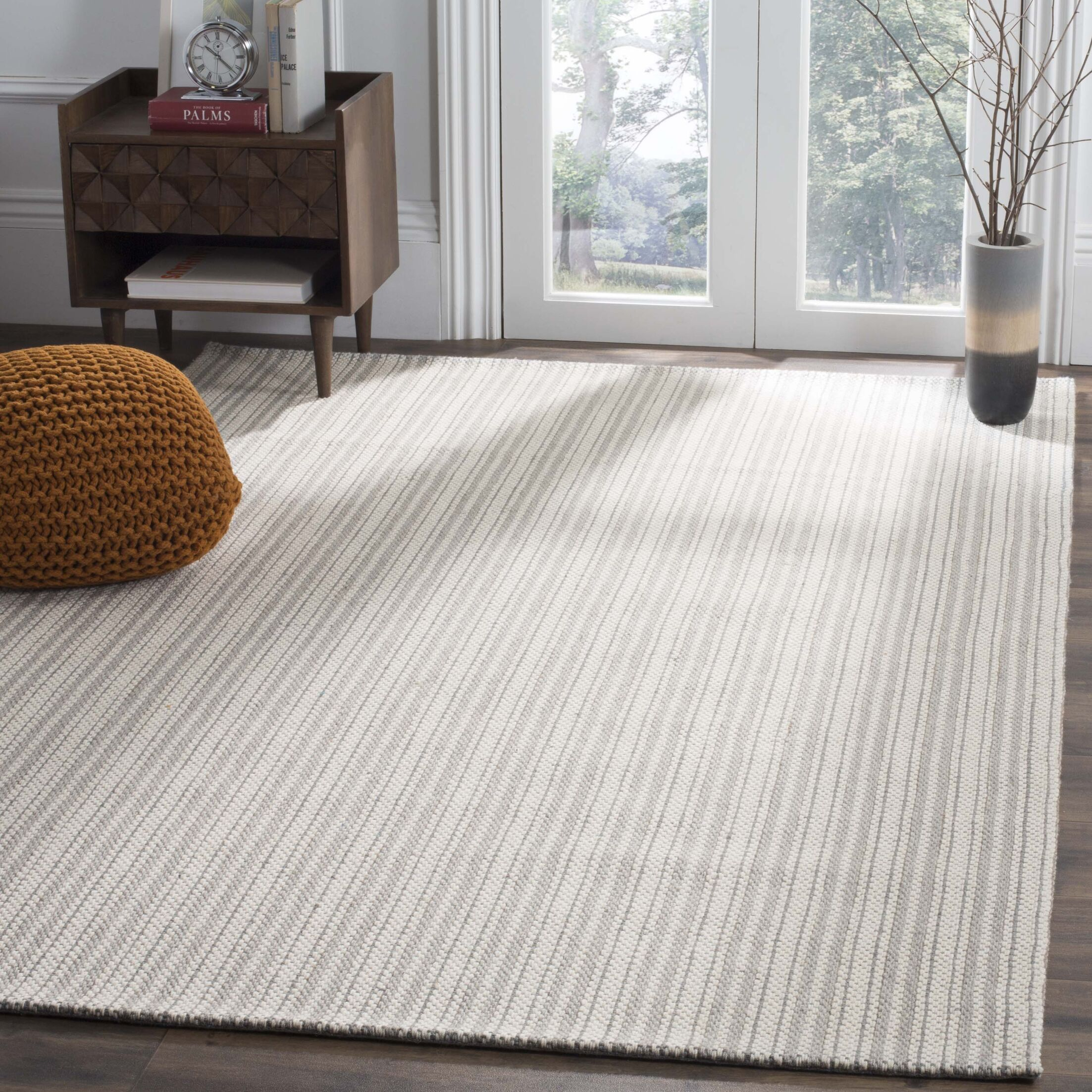Cherif Hand Tufted Gray Area Rug Rug Size: Rectangle 4' x 6'