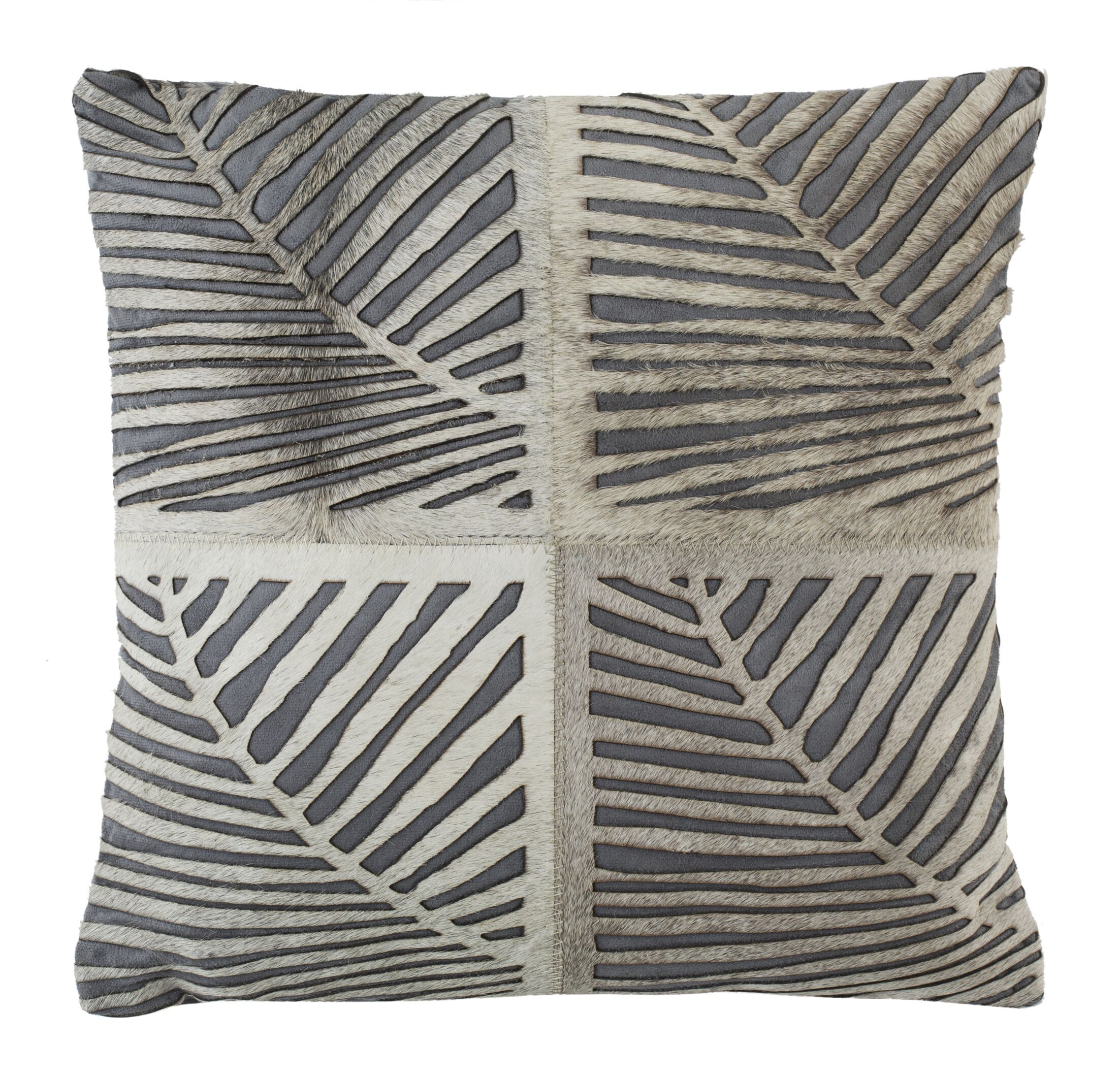 Collinsville Palm Natural Throw Pillow Size: 22