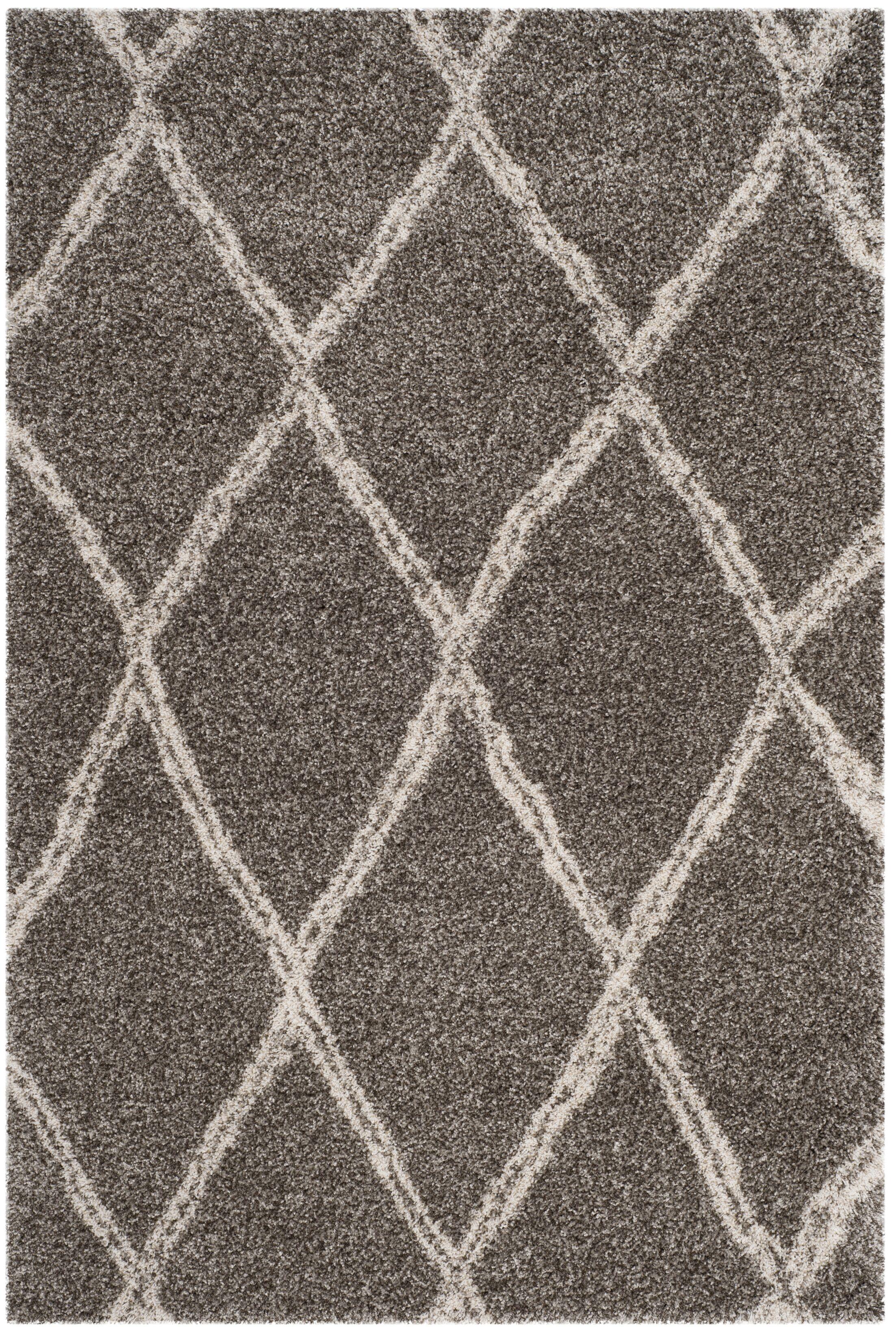 Elizabeth Street Gray/Ivory Area Rug Rug Size: Rectangle 5'1