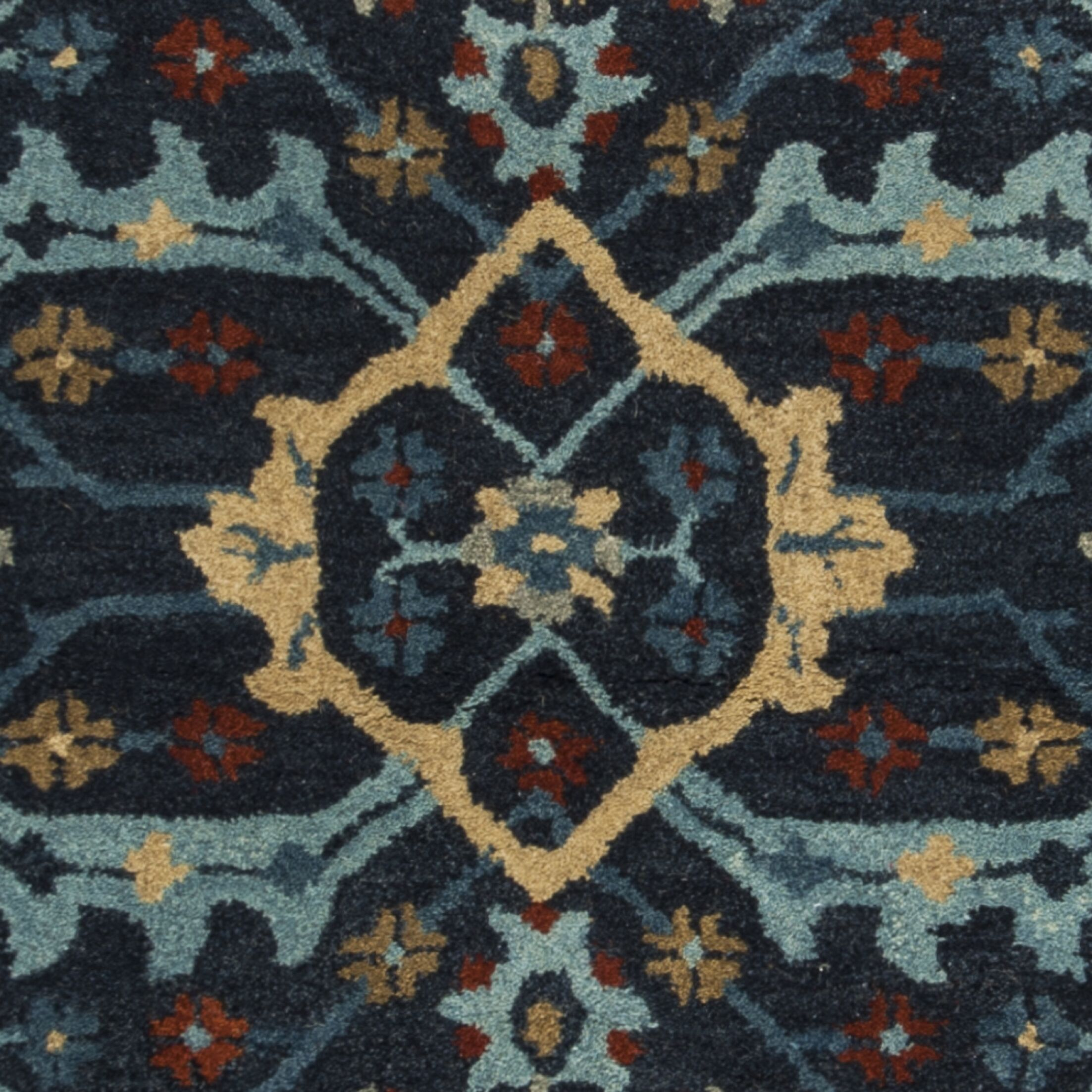 Albrightsville Hand Tufted Wool Navy Area Rug Rug Size: Rectangle 3' x 5'