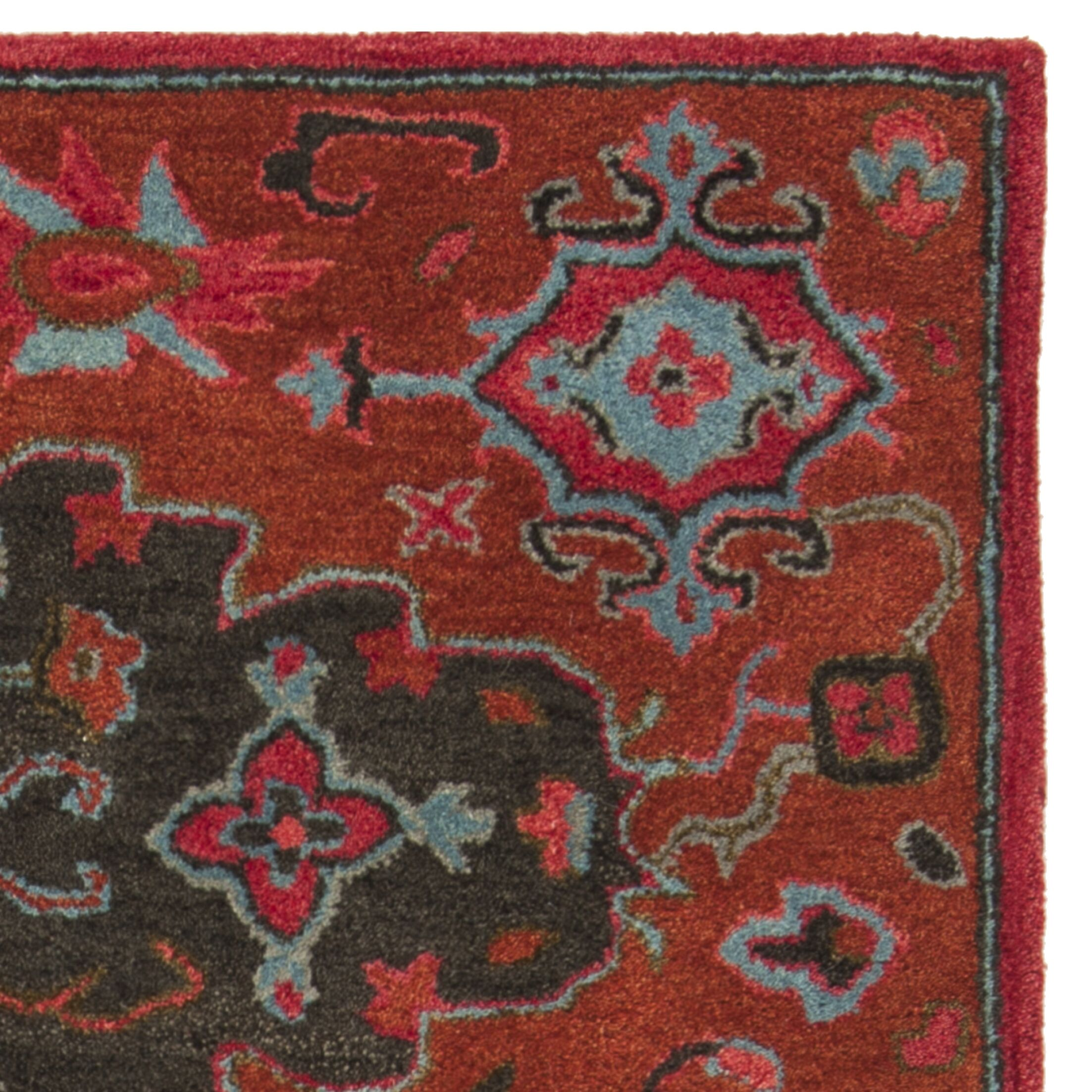 Carlsen Hand Tufted Wool Rust Area Rug Rug Size: Rectangle 3' x 5'