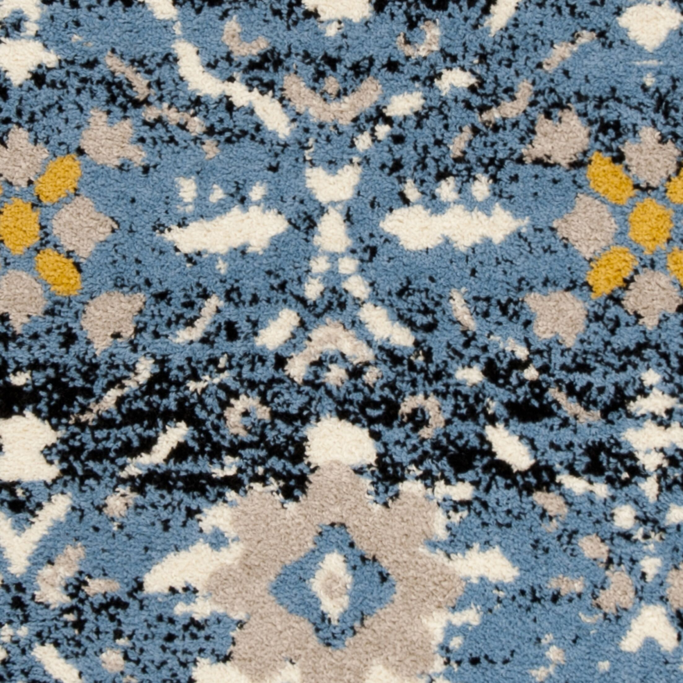 Dalrymple Blue/Cream Area Rug Rug Size: Rectangle 8' x 10'