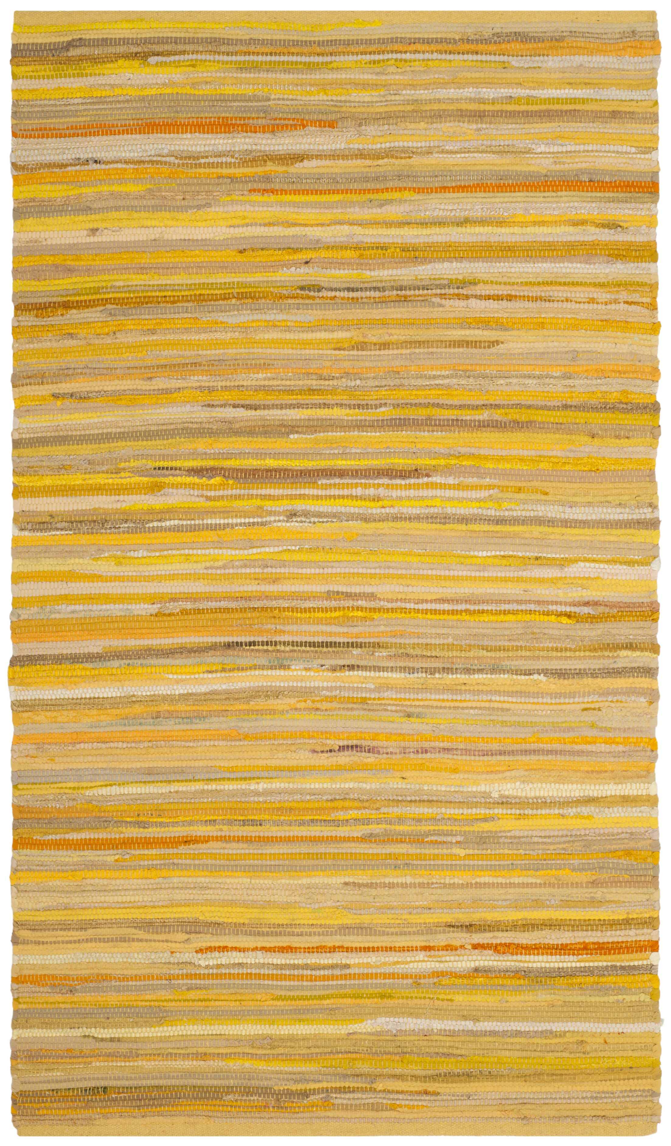 Hand-Woven Yellow Area Rug Rug Size: Round 6'