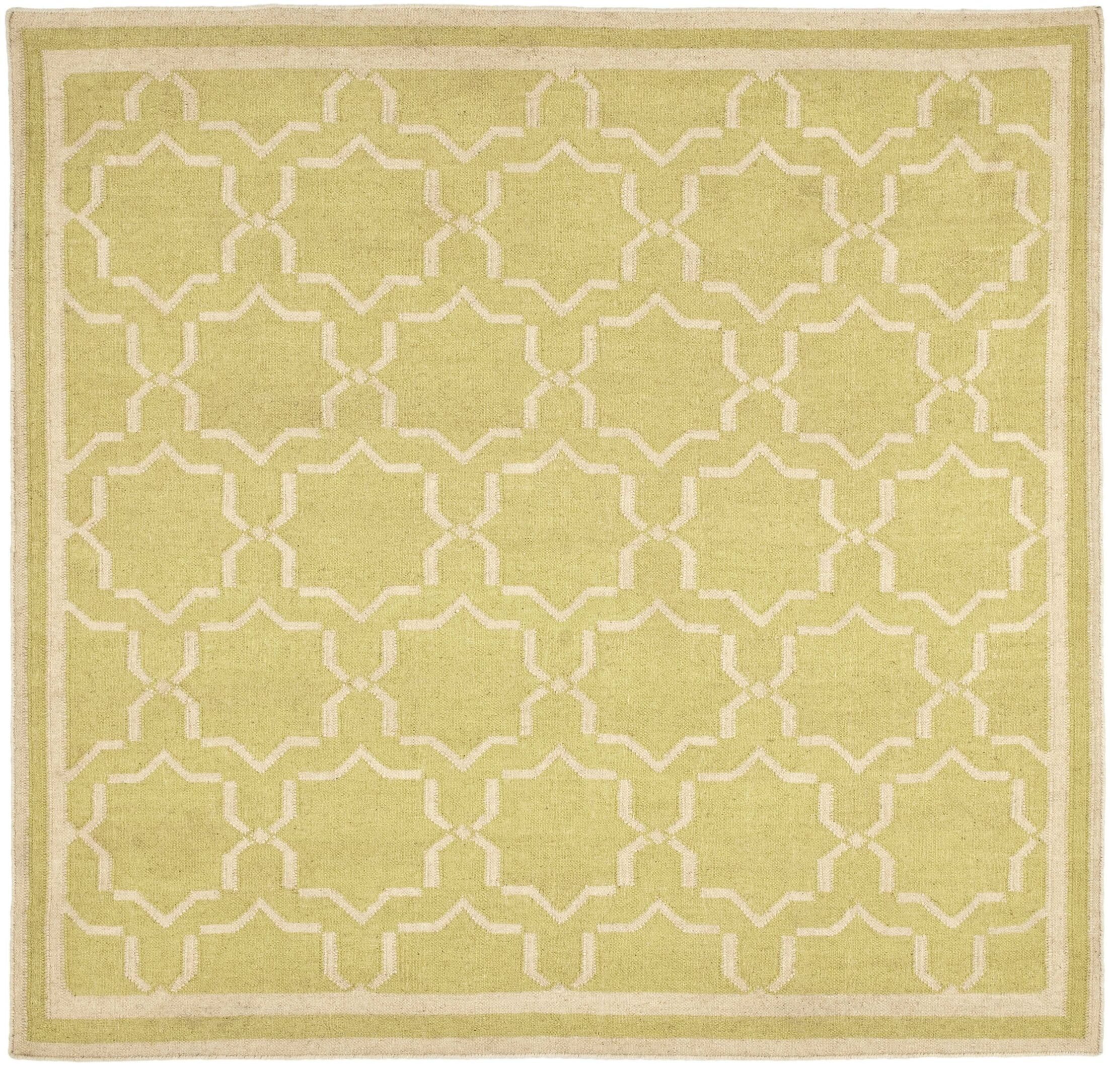 Dhurries Beige Area Rug Rug Size: Square 8'