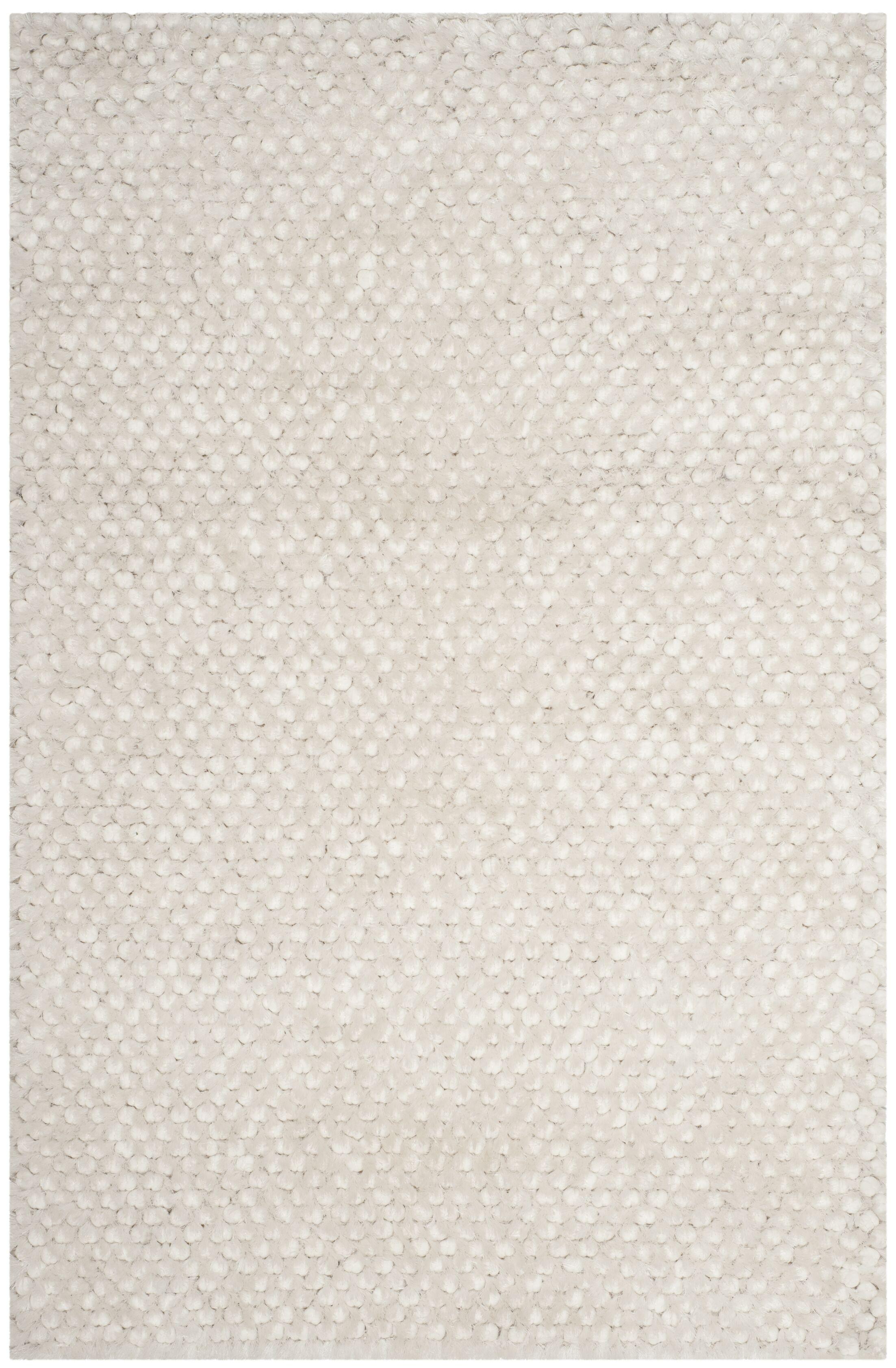 Saint Tropez Hand Woven Cotton White Area Rug Rug Size: Rectangle 4' x 6'