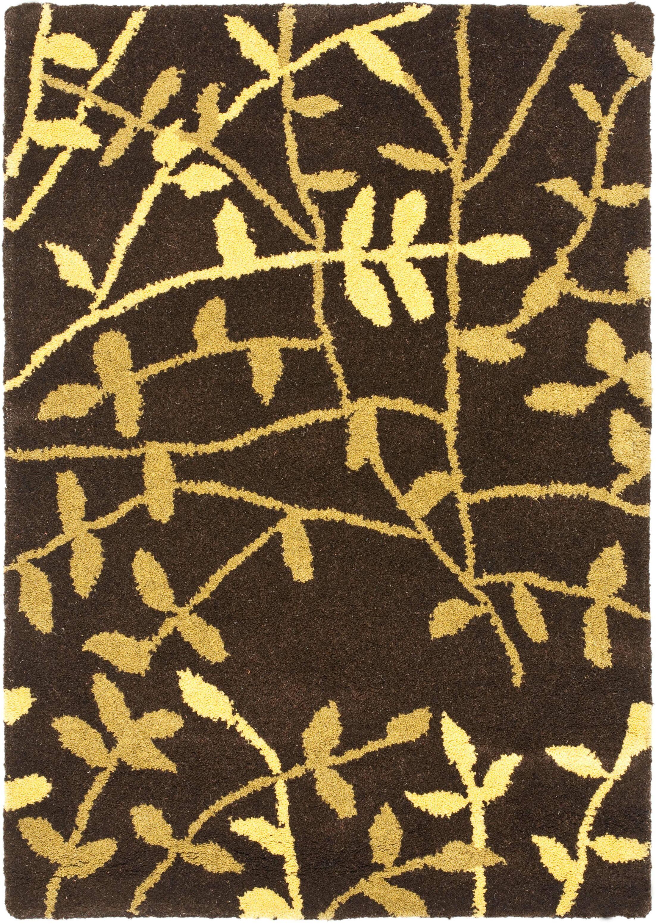 Lockwood Brown Leaves Area Rug Rug Size: Rectangle 5' x 8'