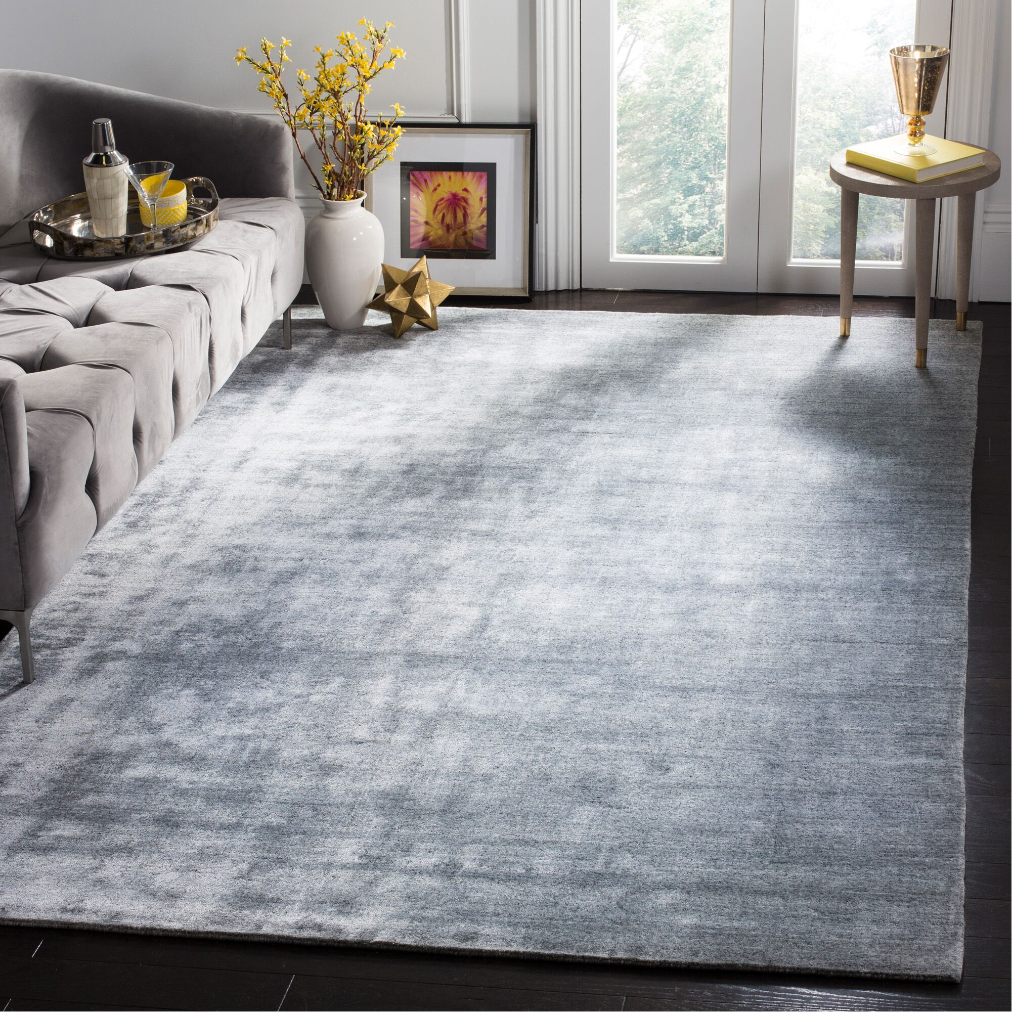 Wald Hand-Woven Light Gray Area Rug Rug Size: Rectangle 6' x 9'