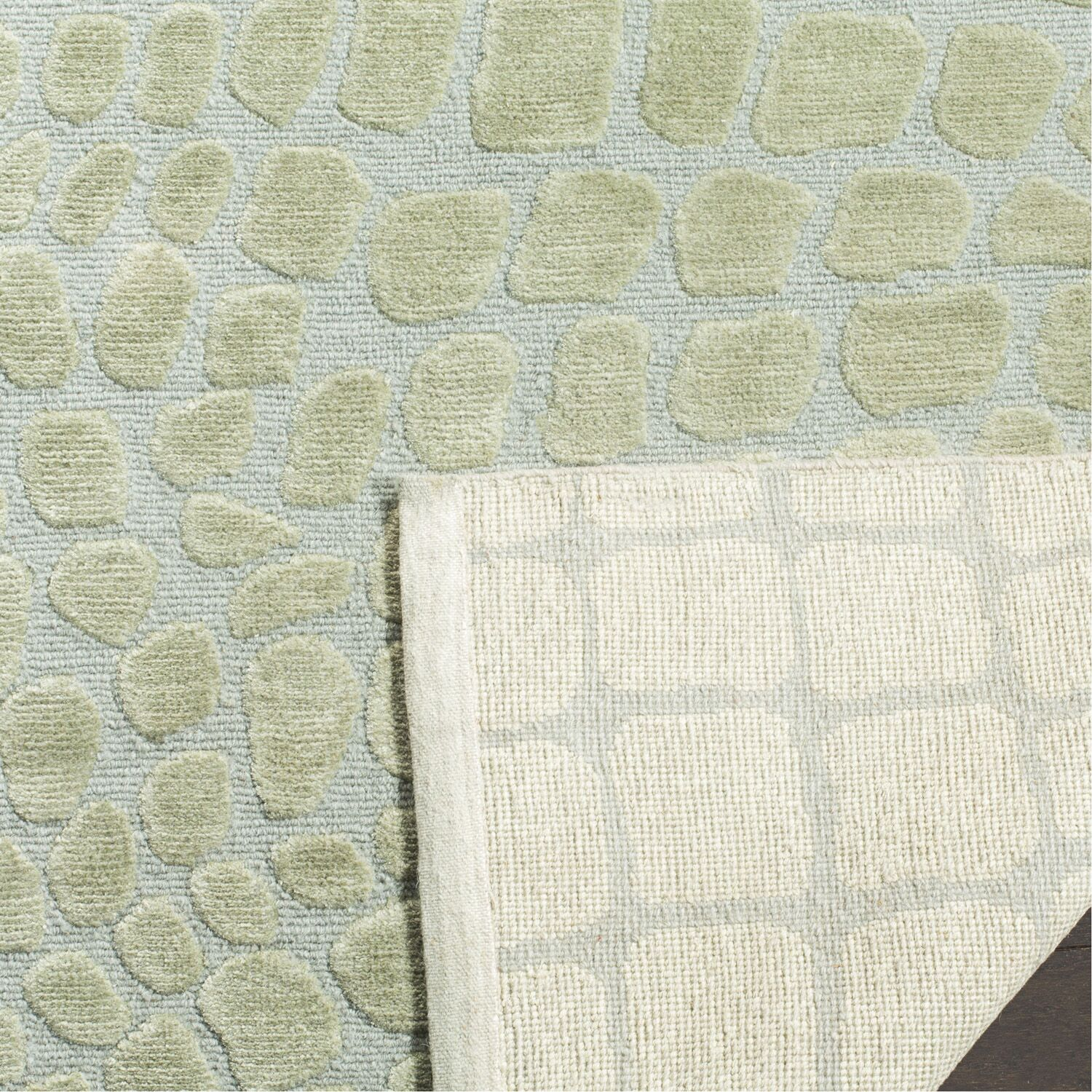 Amazonia Hand-Tufted Gray/Green Area Rug Rug Size: Rectangle 2'6