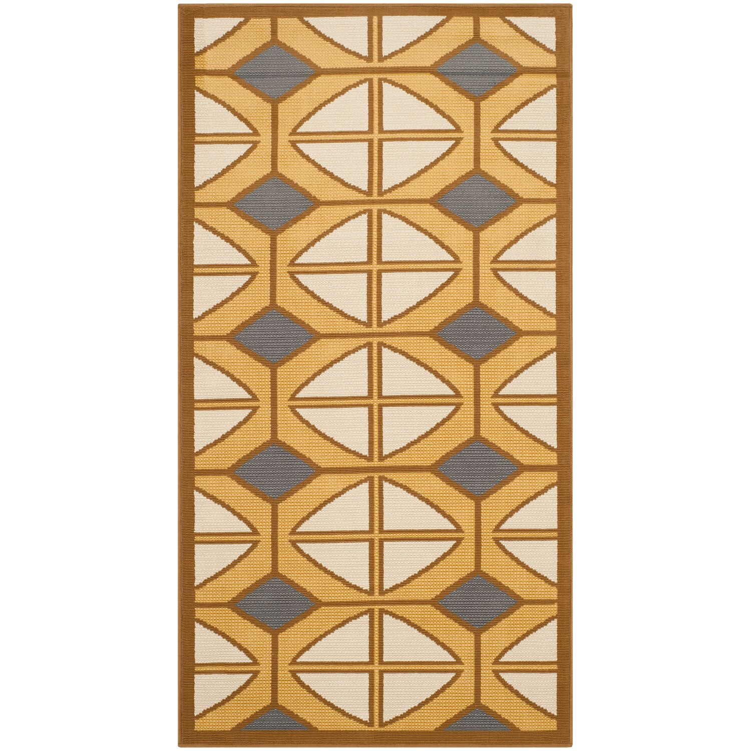 Hampton Ivory Geometric Outdoor Area Rug Rug Size: Rectangle 8' x 11'