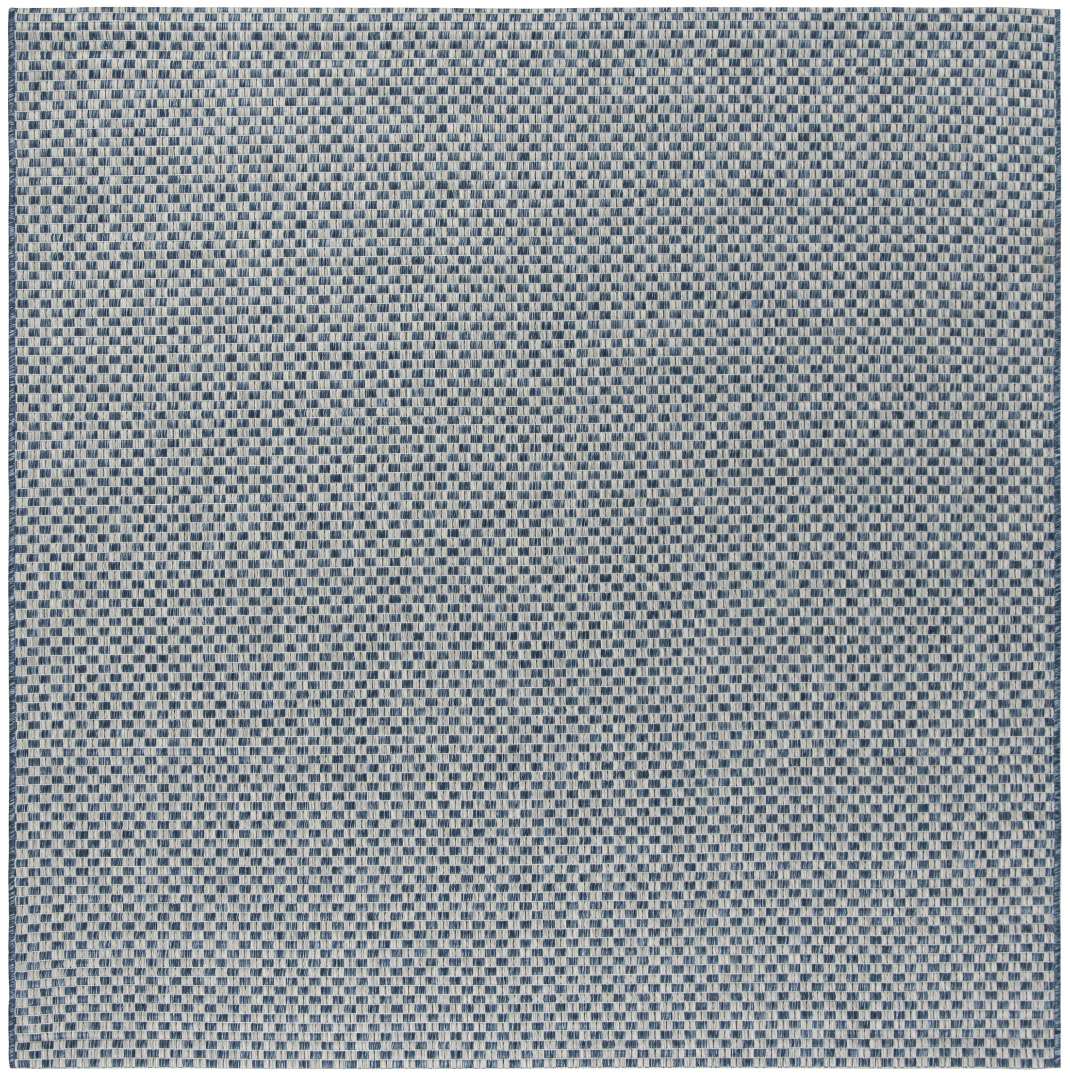 Jefferson Place Blue/Light Gray Outdoor Area Rug Rug Size: Square 6'7