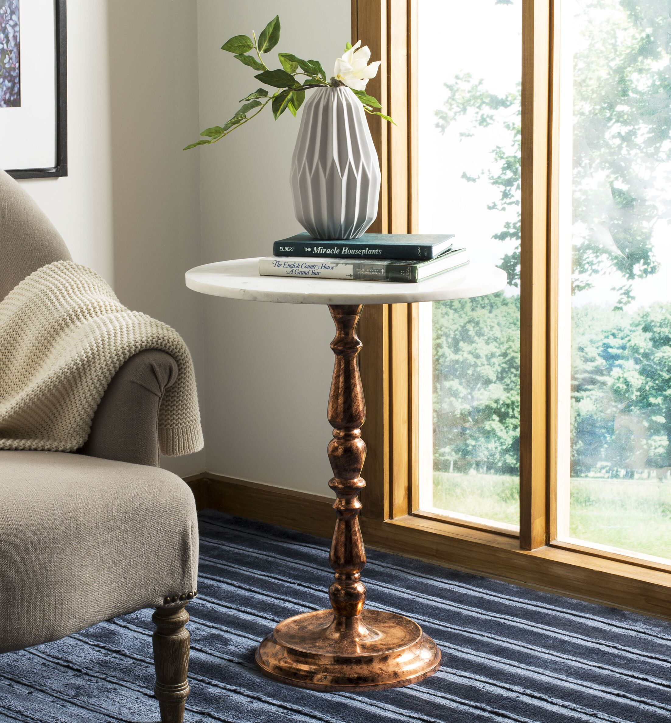 Rambert Marble Top End Table