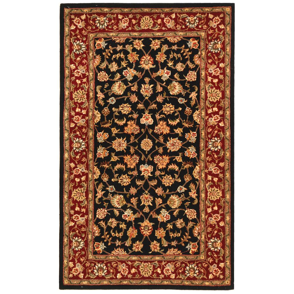Persian Court Mashad Black / Red Oriental Rug Rug Size: Runner 2'3