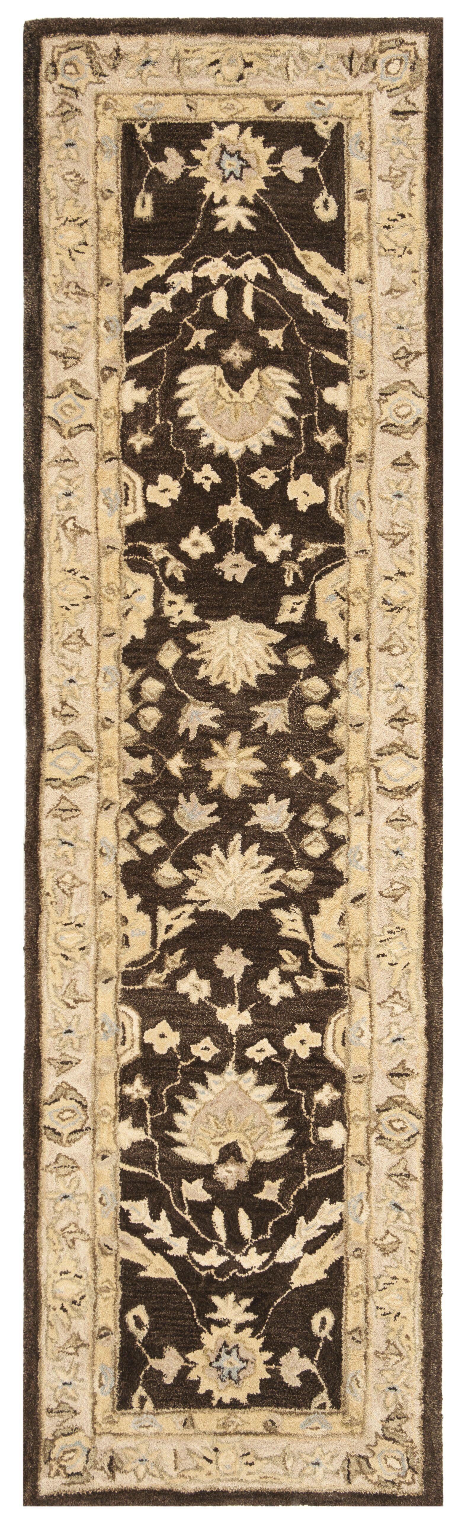 Anatolia Chocolate/Ivory Area Rug Rug Size: Runner 2'3