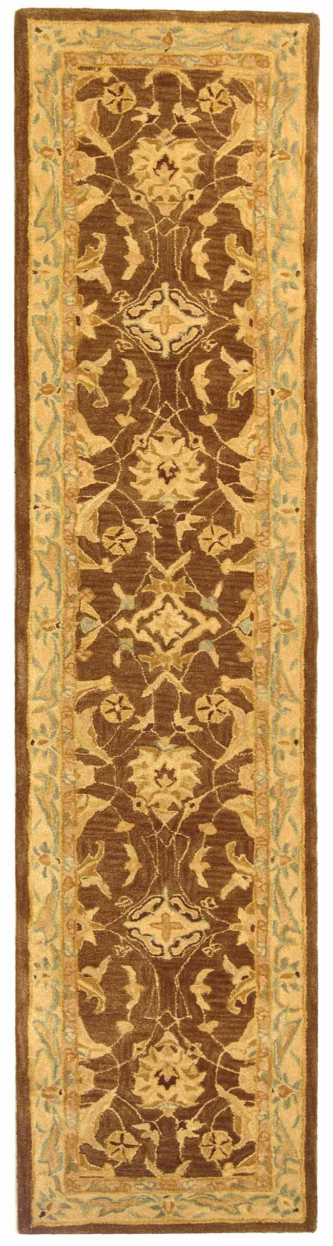Anatolia Brown/Tan Area Rug Rug Size: Runner 2'3