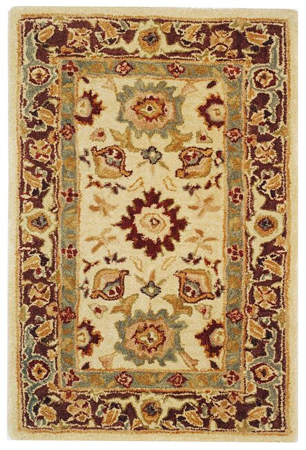 Pritchard Ivory/Brown Rug Rug Size: Rectangle 4' x 6'