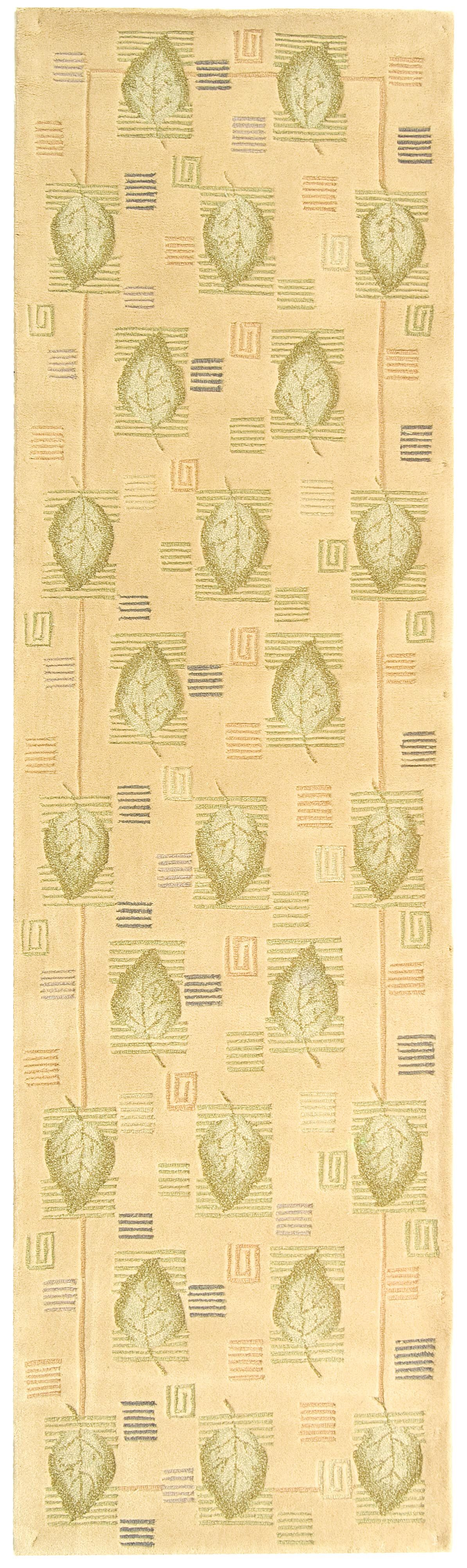 Berkeley Beige Leaves Area Rug Rug Size: Runner 2'6