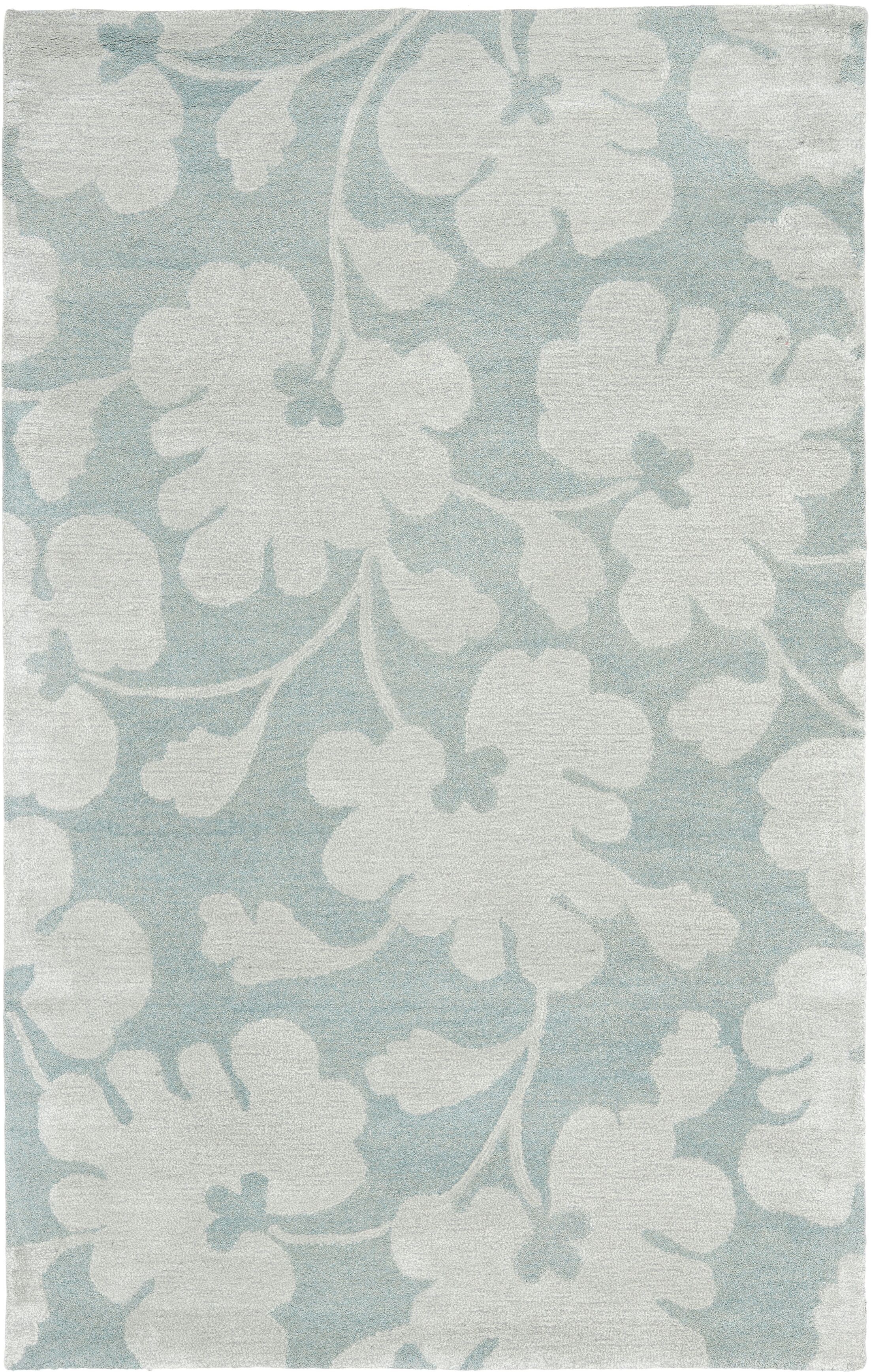 Armstrong Hand-Tufted Light Blue / Silver Area Rug Rug Size: Rectangle 8'3
