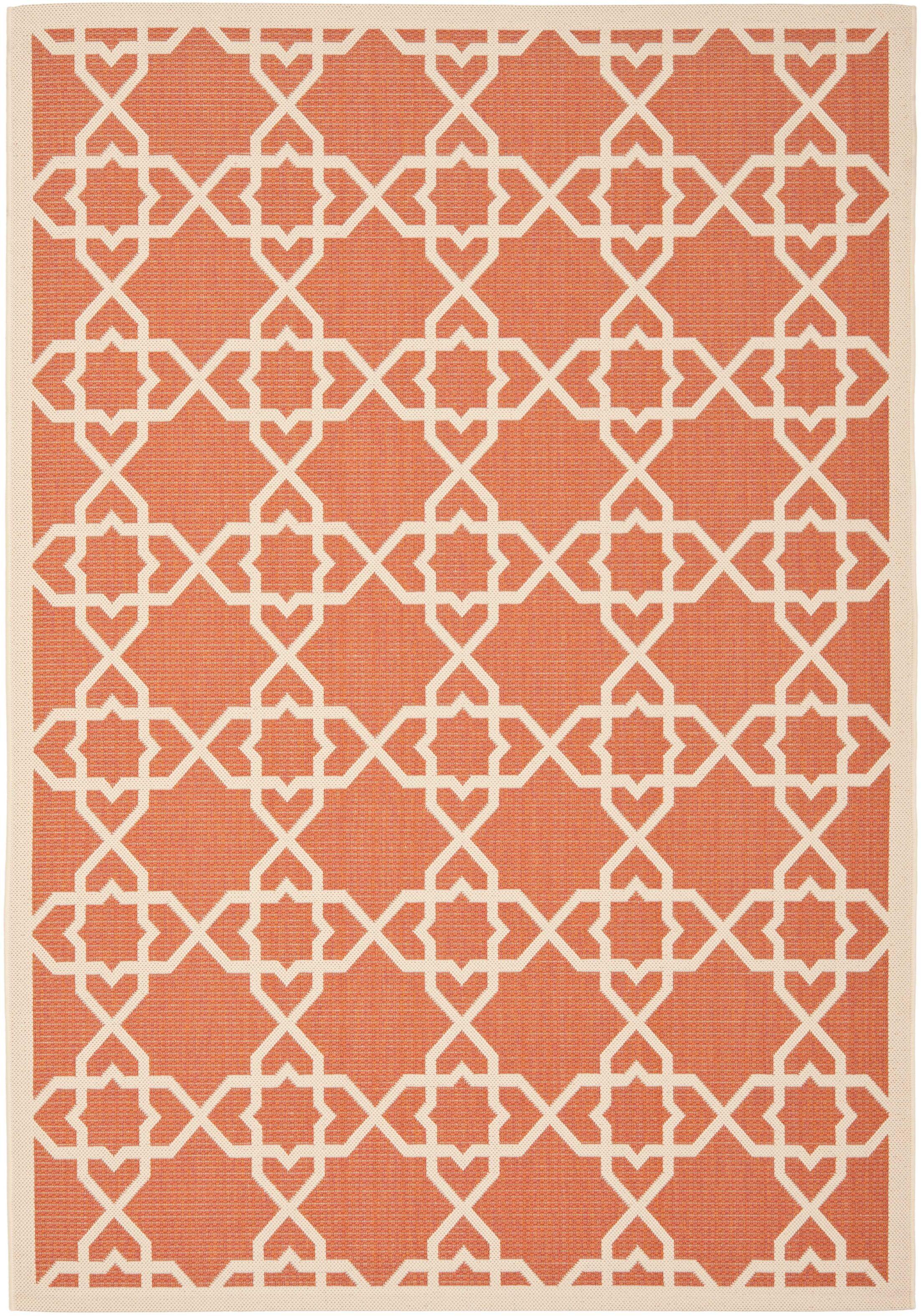 Bexton Terracotta / Beige Indoor/Outdoor Rug Rug Size: Rectangle 8' x 11'2