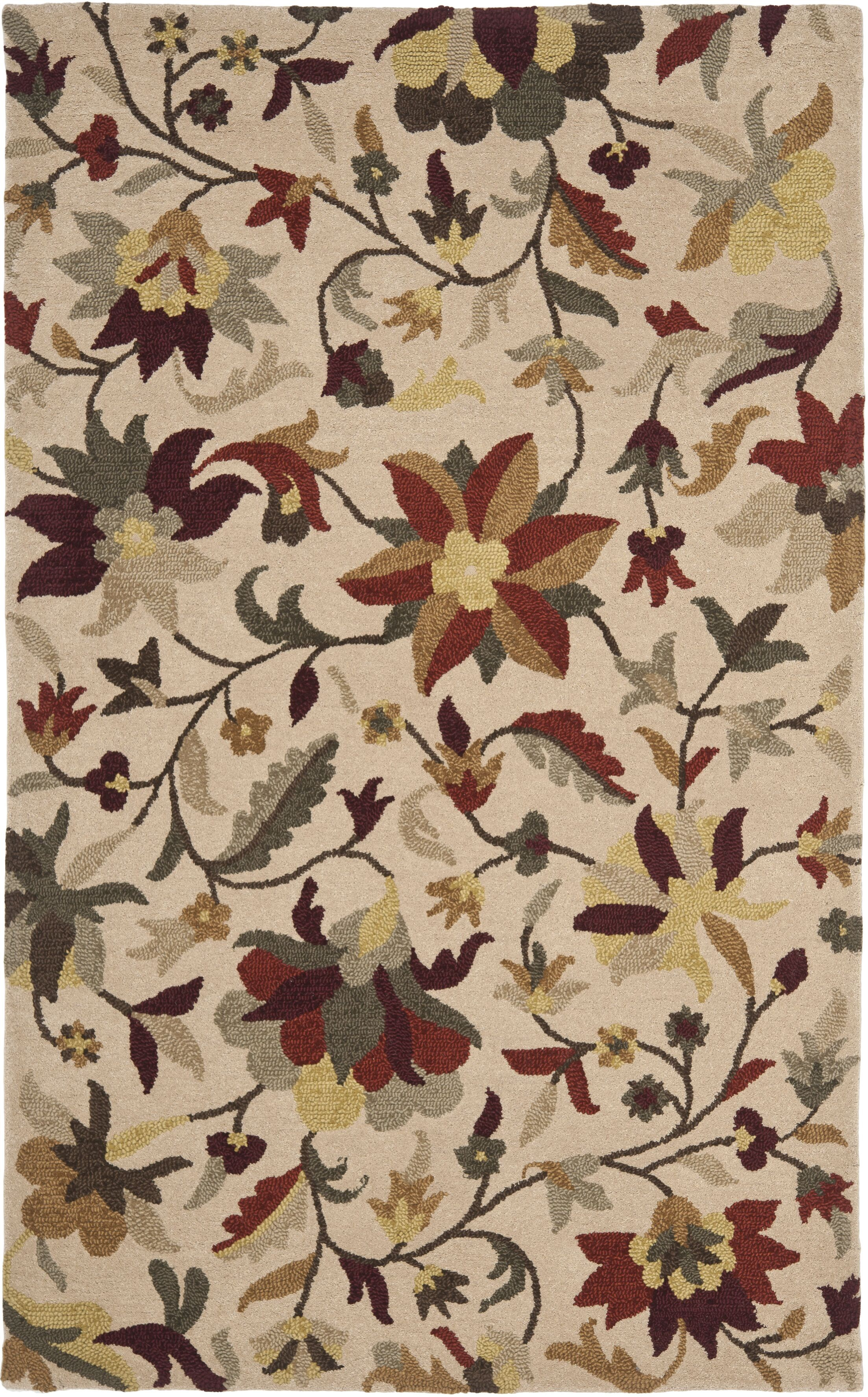 Jardin Beige/Multi Rug Rug Size: Rectangle 4' x 6'