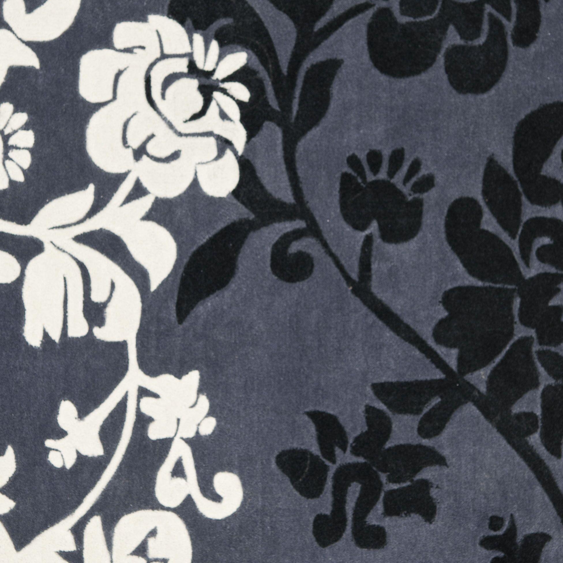 Modern Art Dark Gray/Multi Rug Rug Size: Square 5'