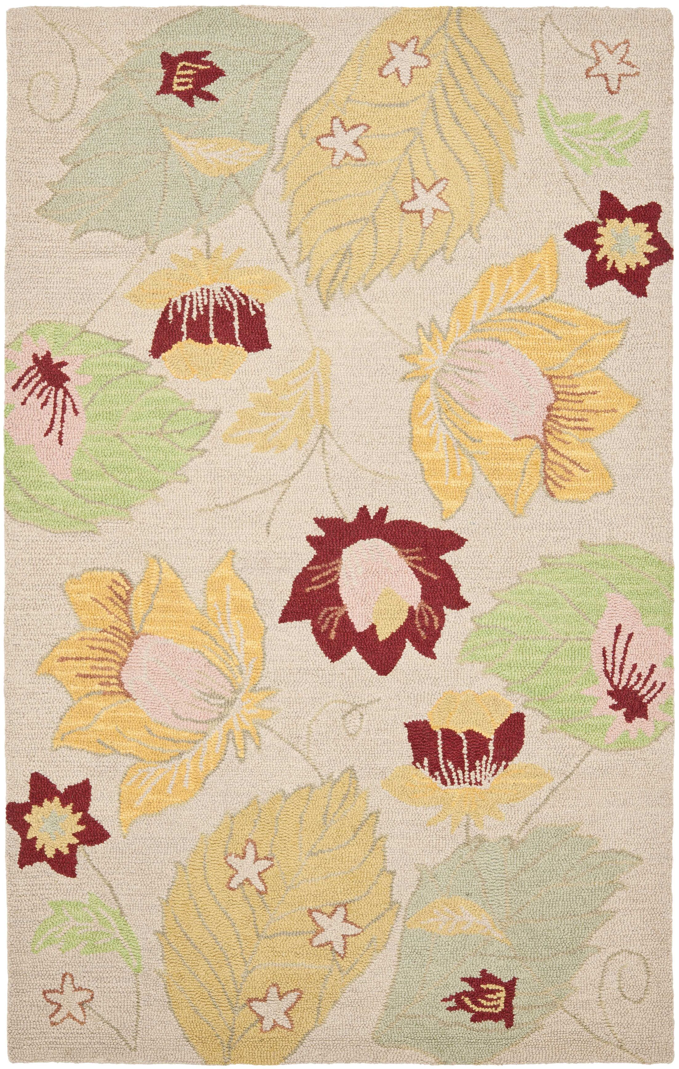 Jadon Wool Ivory / Multi Contemporary Rug Rug Size: Rectangle 8' x 10'