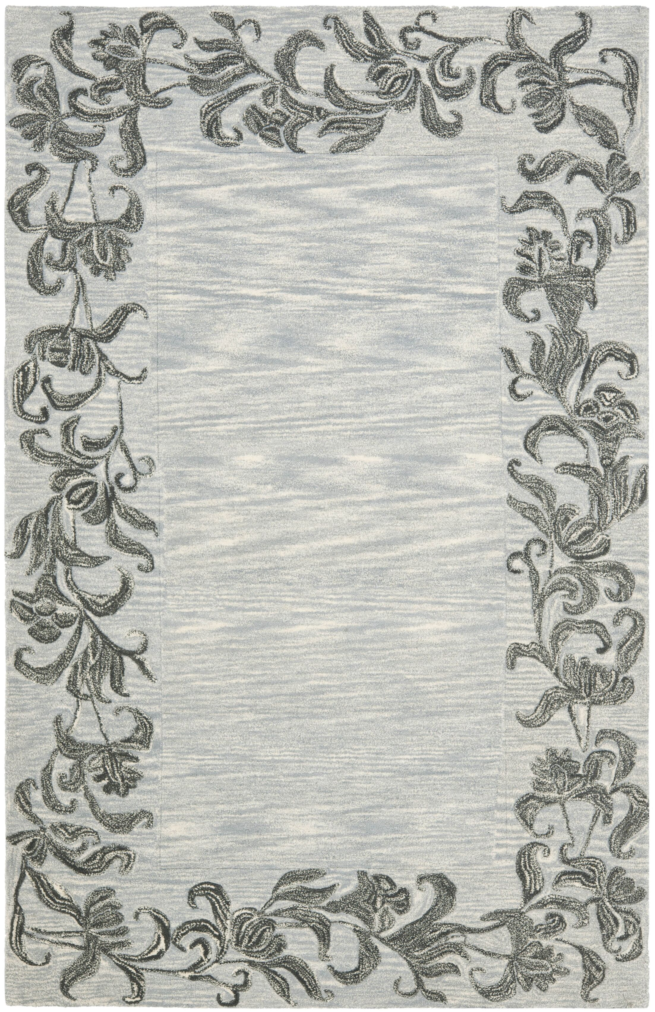 Steve Silver / Grey Contemporary Rug Rug Size: Rectangle 5' x 8'