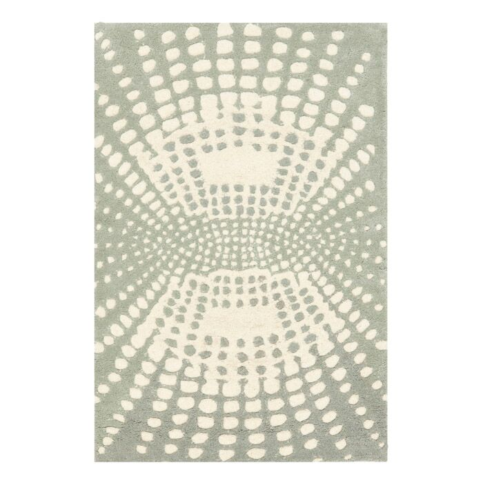 Chiara Light Blue / Light Ivory Contemporary Rug Rug Size: Rectangle 7'6