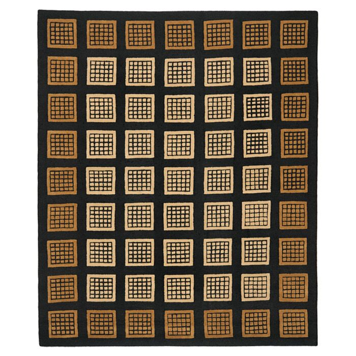 Woodburn Black / Coffee Contemporary Rug Rug Size: Rectangle 5' x 8'
