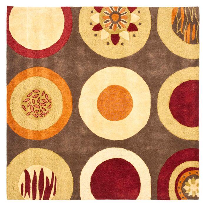 Chiara Brown / Light Dark Multi Contemporary Rug Rug Size: Square 6'