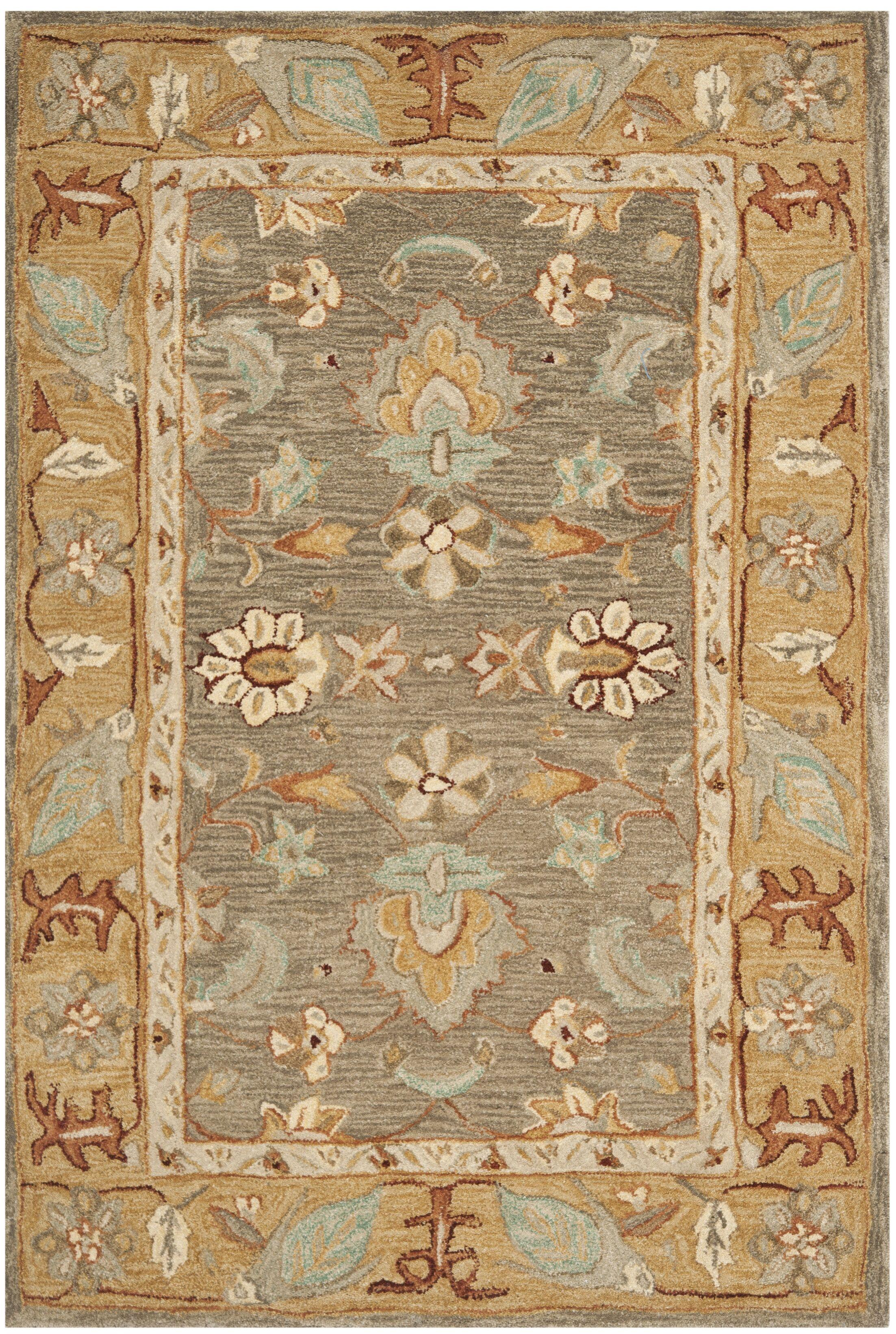Anatolia Brown/Camel Area Rug Rug Size: Rectangle 6' x 9'