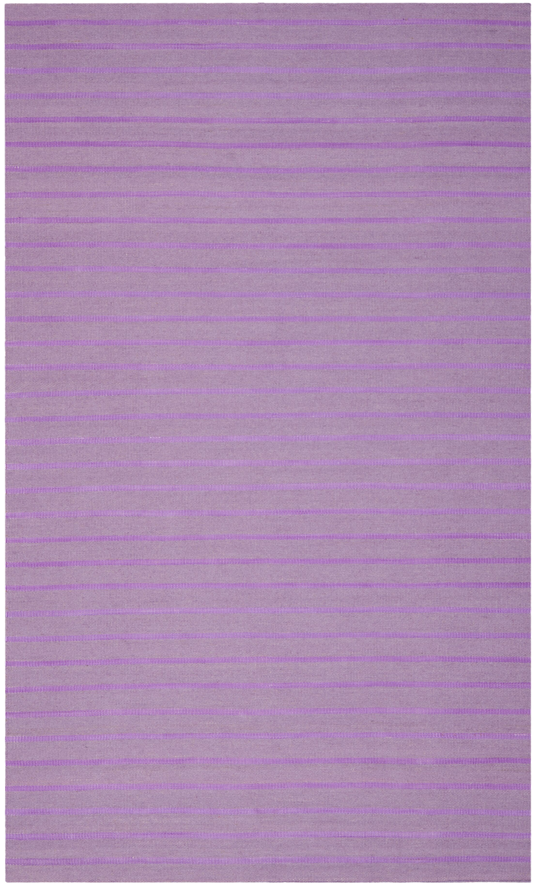Dhurries Hand-Woven Purple Wool Area Rug Rug Size: Rectangle 8' x 10'