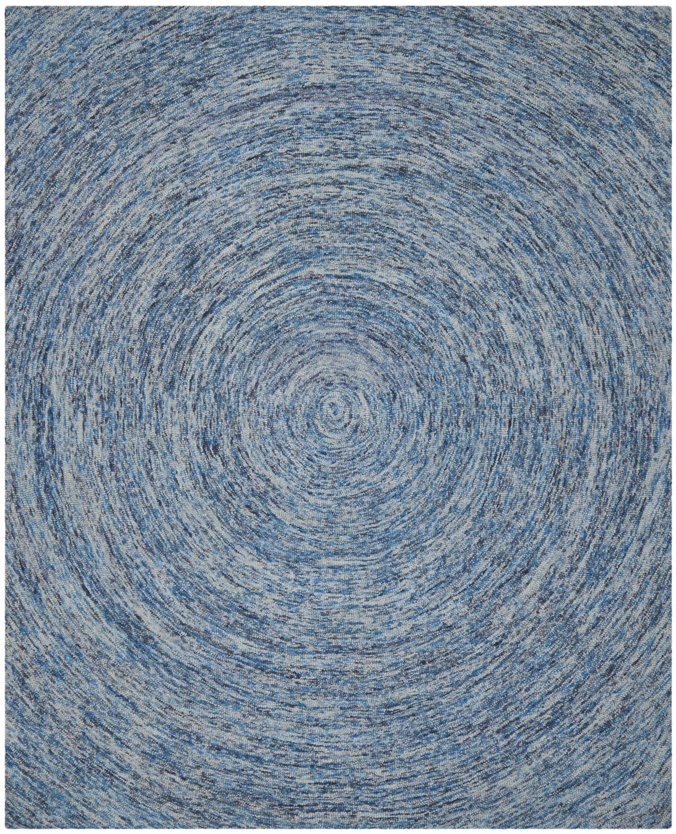Ikat Dark Blue Area Rug Rug Size: Square 6'