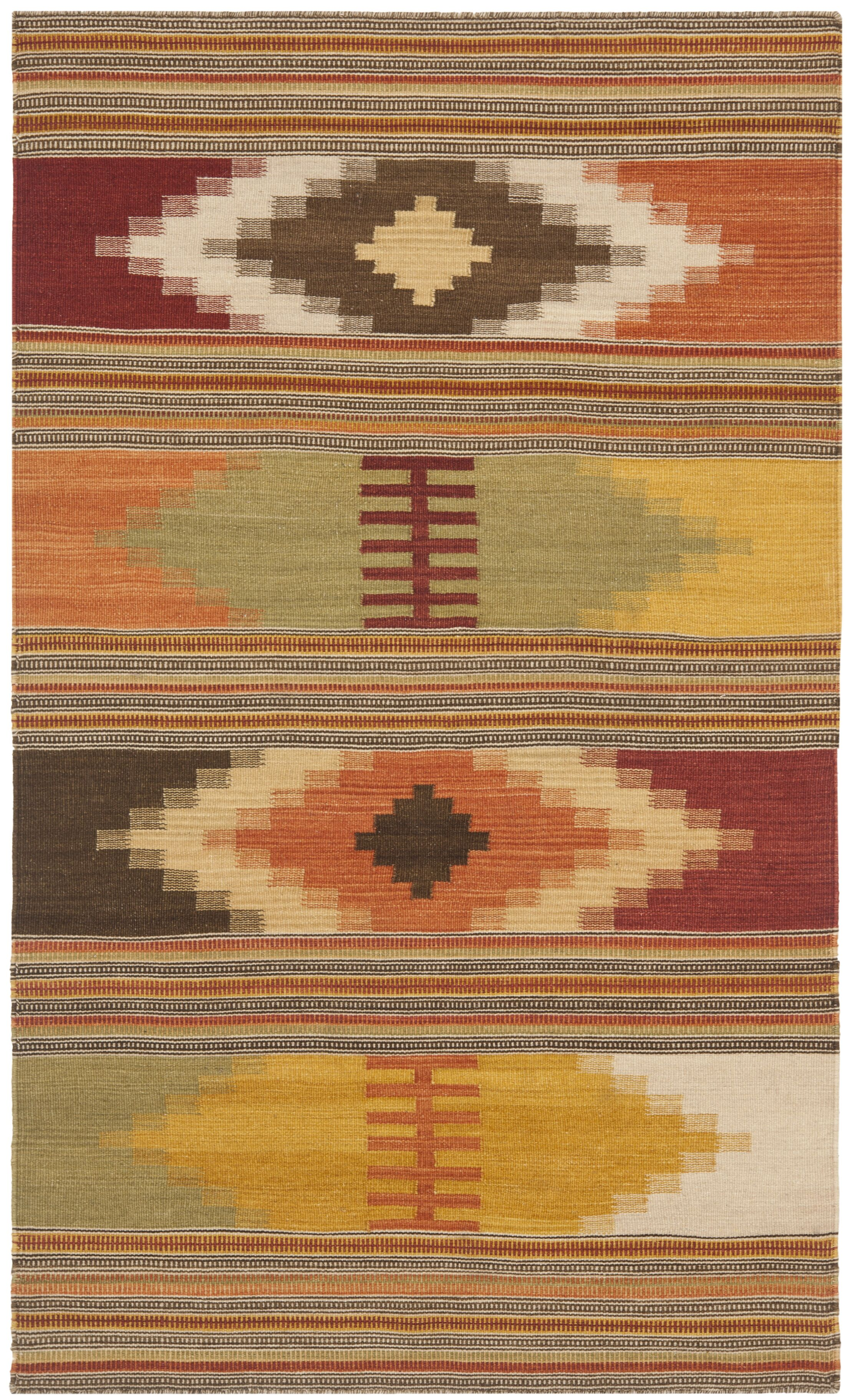 Vacaville Hand Woven Wool Red/Orange Area Rug Rug Size: Rectangle 4' x 6'