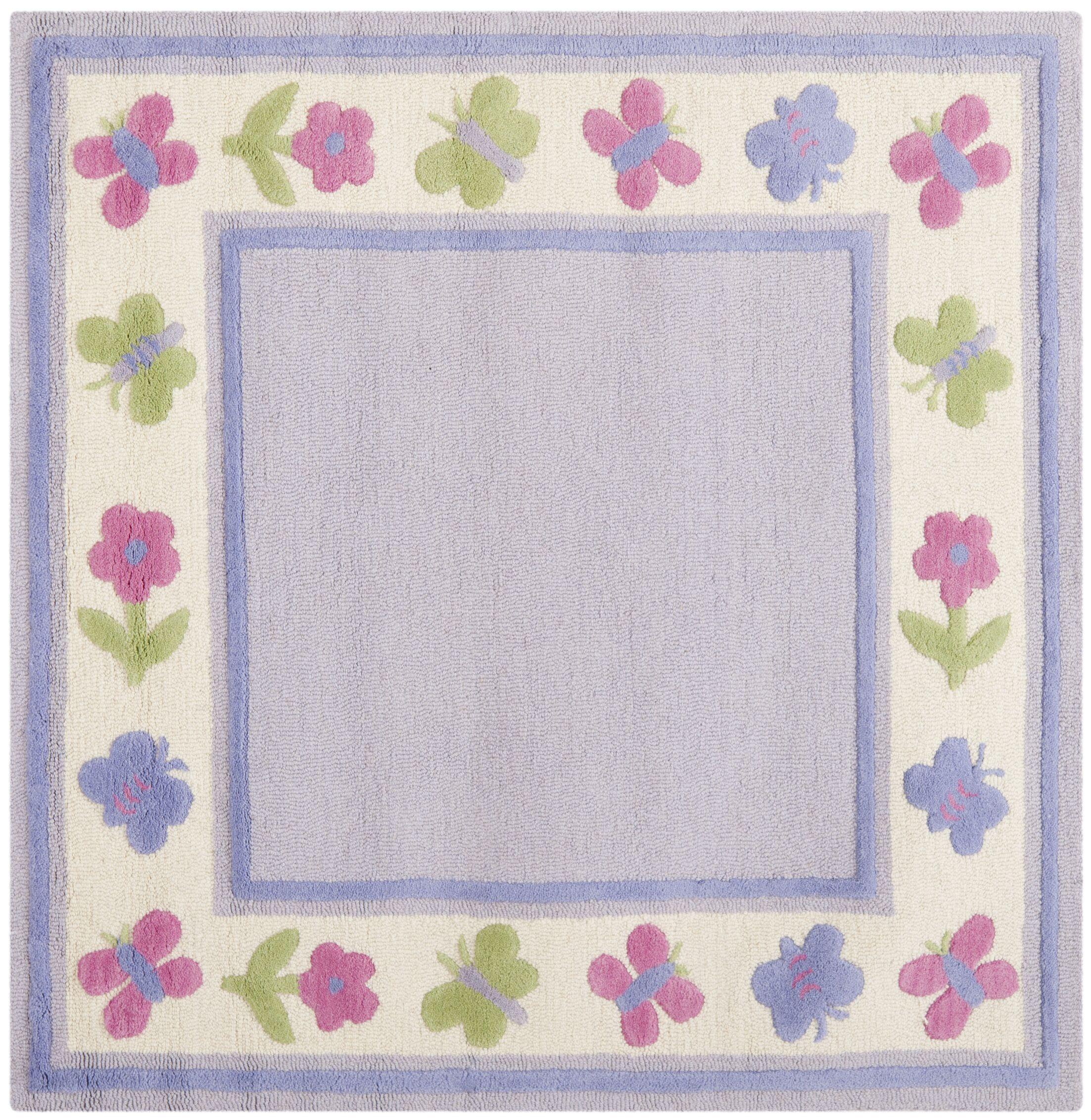 Claro Lavender Kids Rug Rug Size: Square 5'