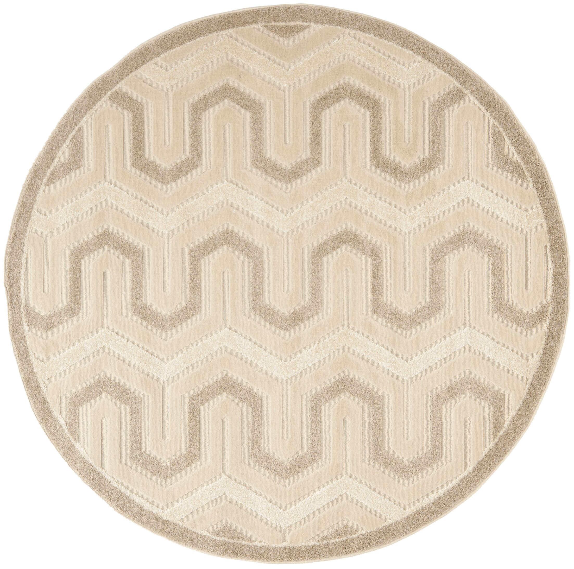 York Cream Area Rug Rug Size: Round 6'