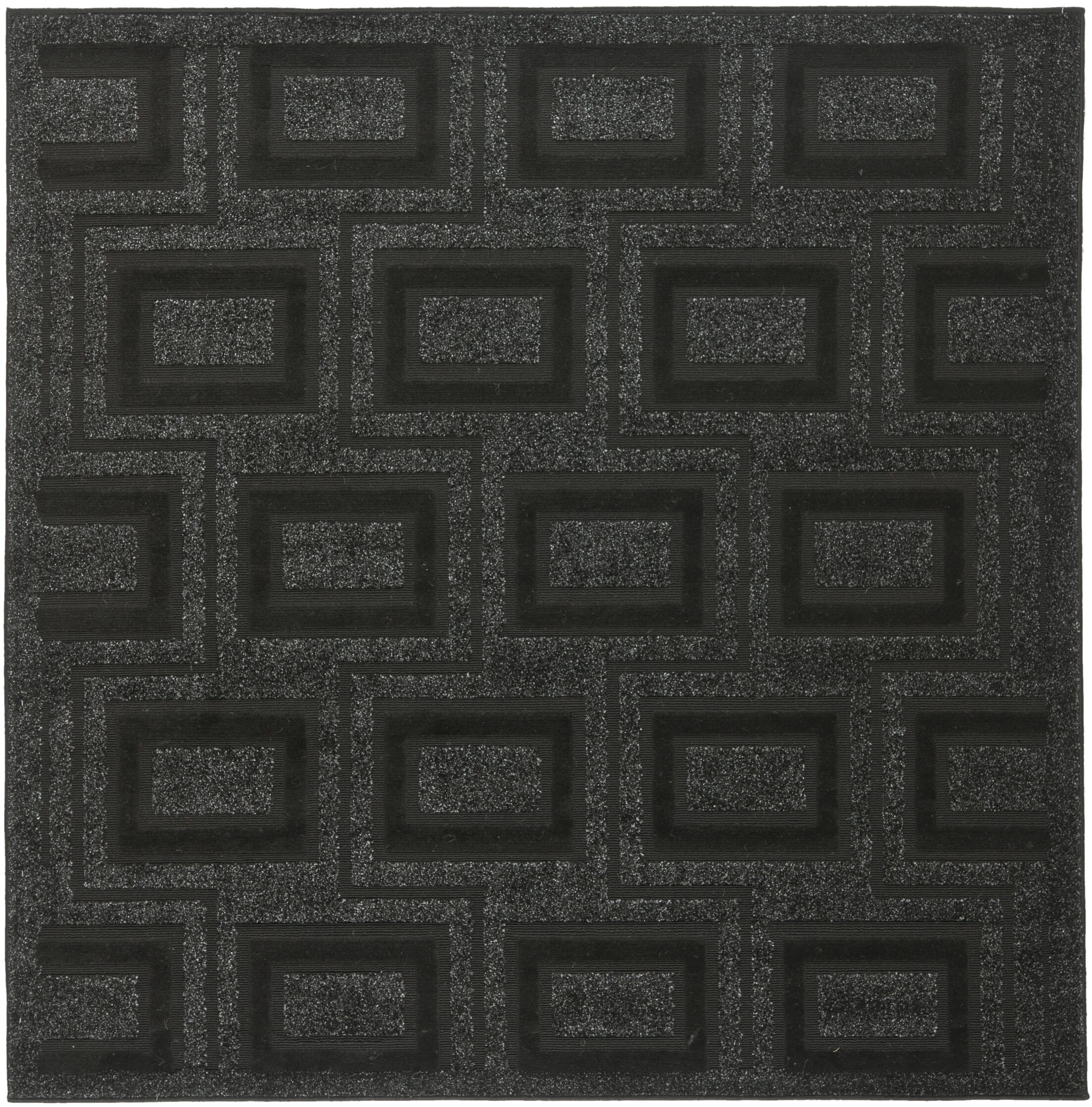 York Charcoal Area Rug Rug Size: Square 6' x 6'