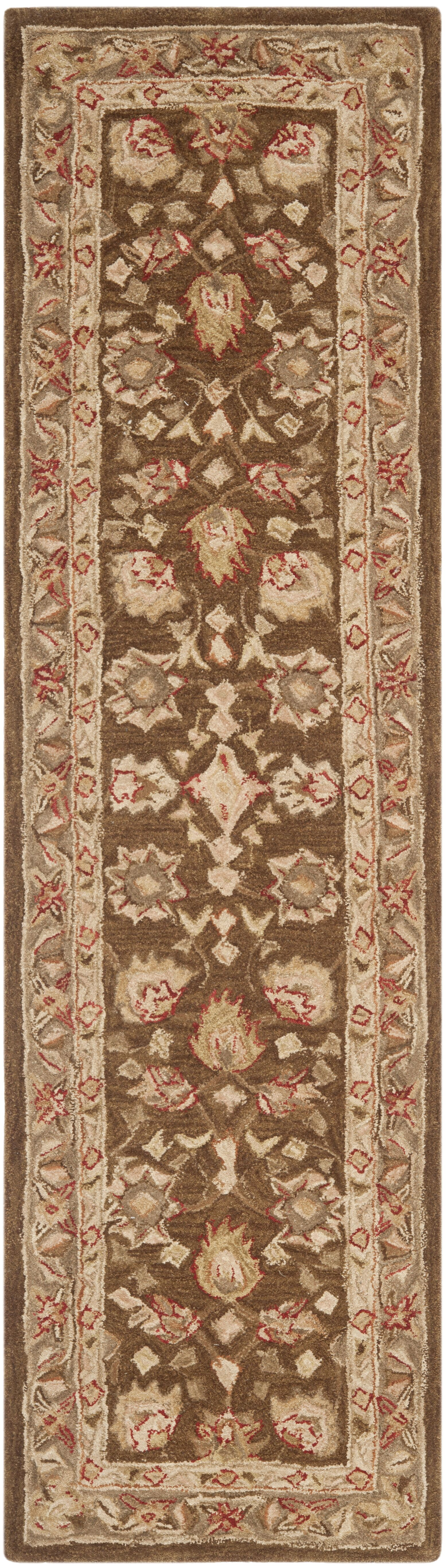 Anatolia Brown/Green Area Rug Rug Size: Rectangle 9' x 12'