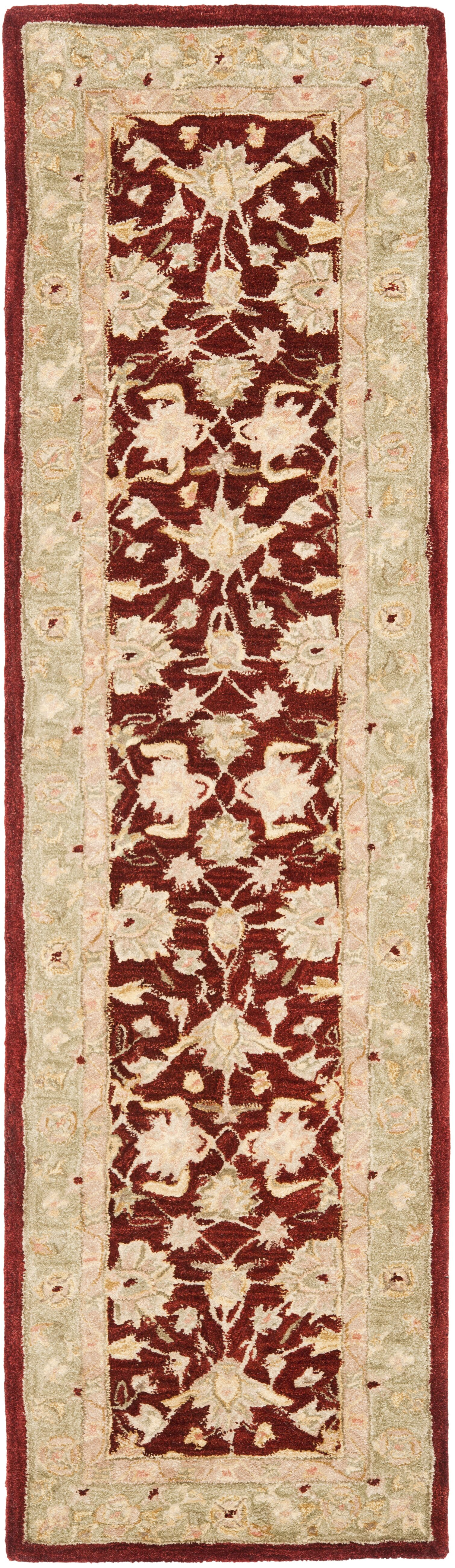 Pritchard Red/Moss Area Rug Rug Size: Runner 2'3