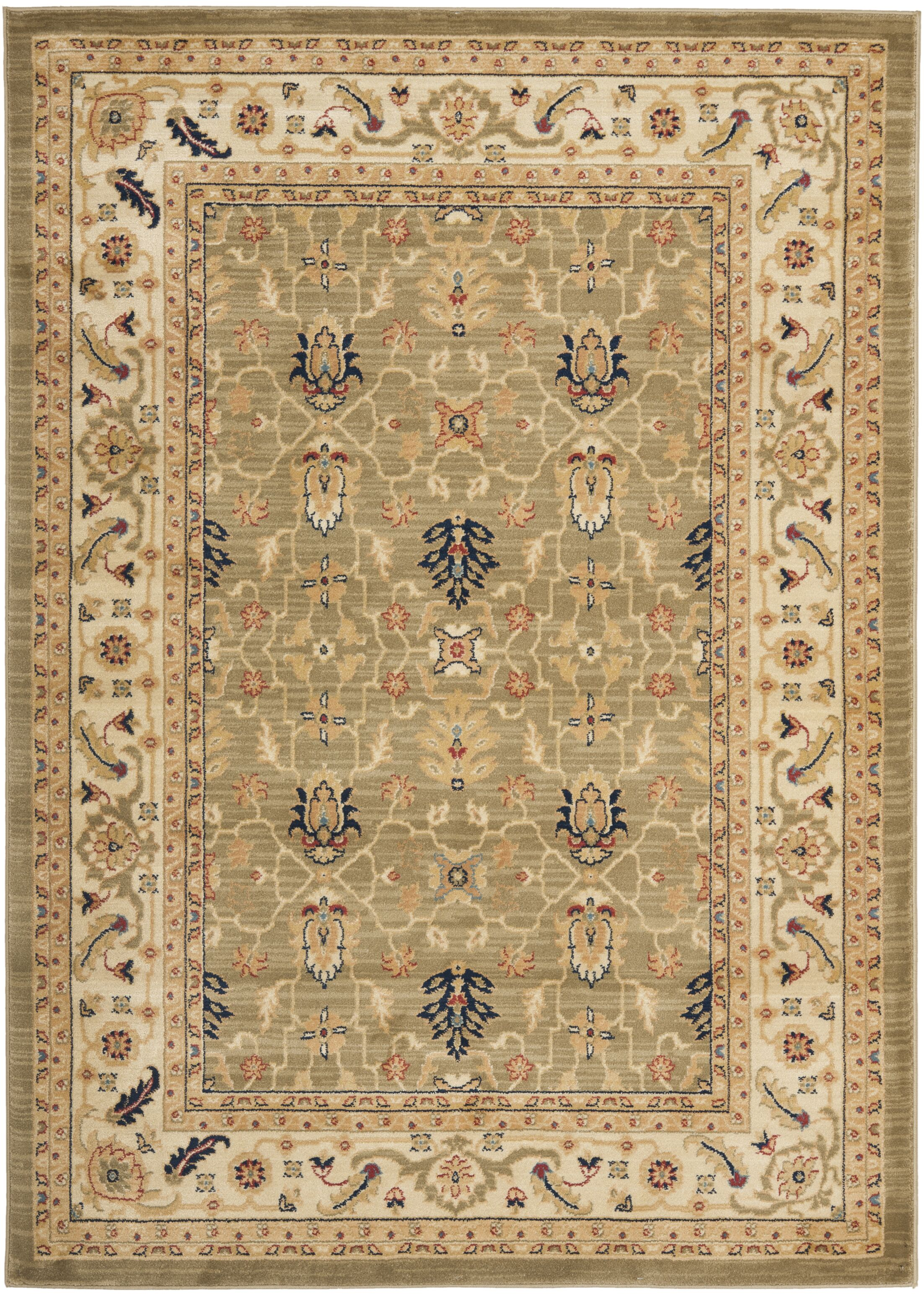 Austin Green/Cream Area Rug Rug Size: Rectangle 6'7