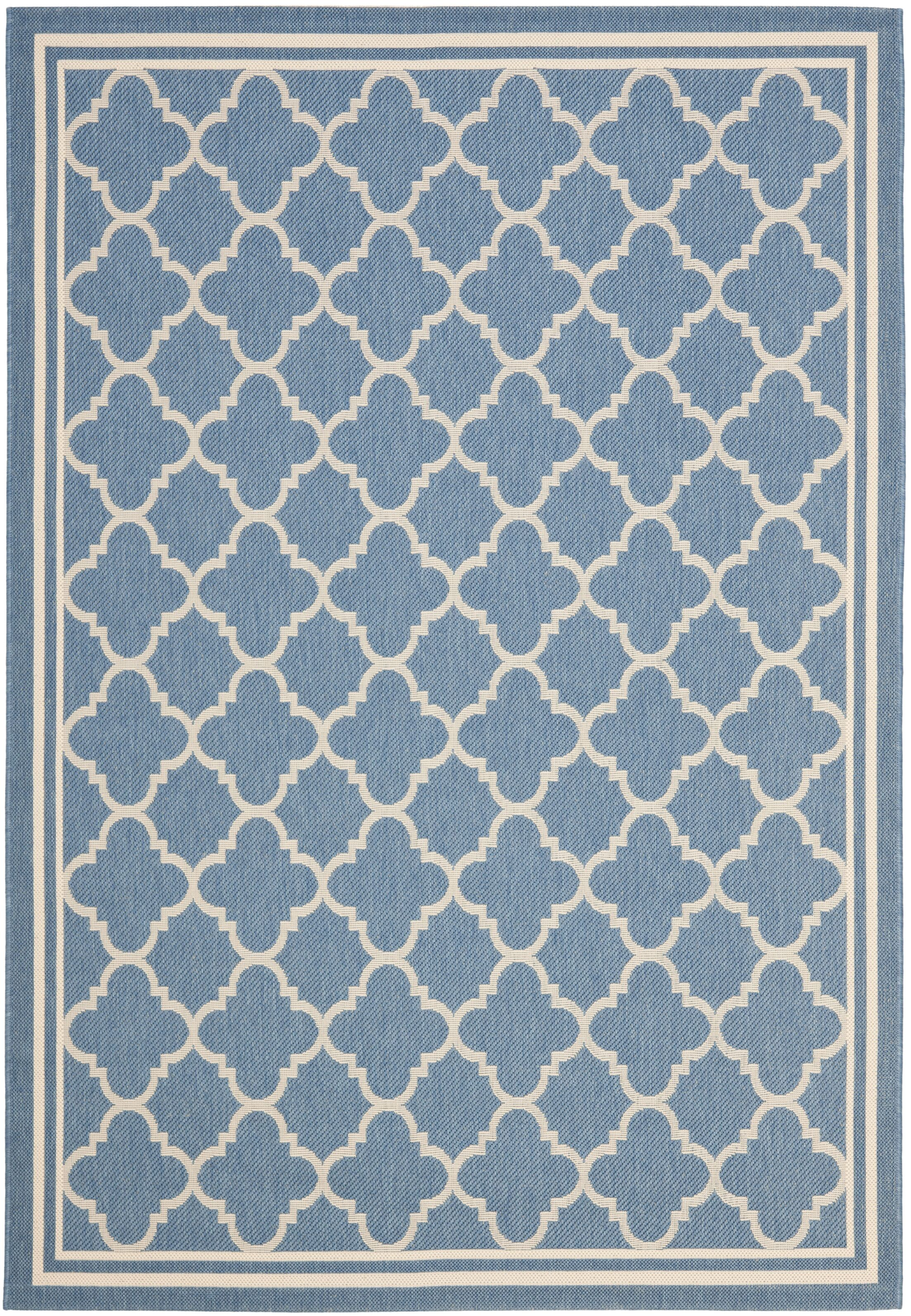 Bexton Blue Indoor/Outdoor Area Rug Rug Size: Rectangle 8' x 11'2