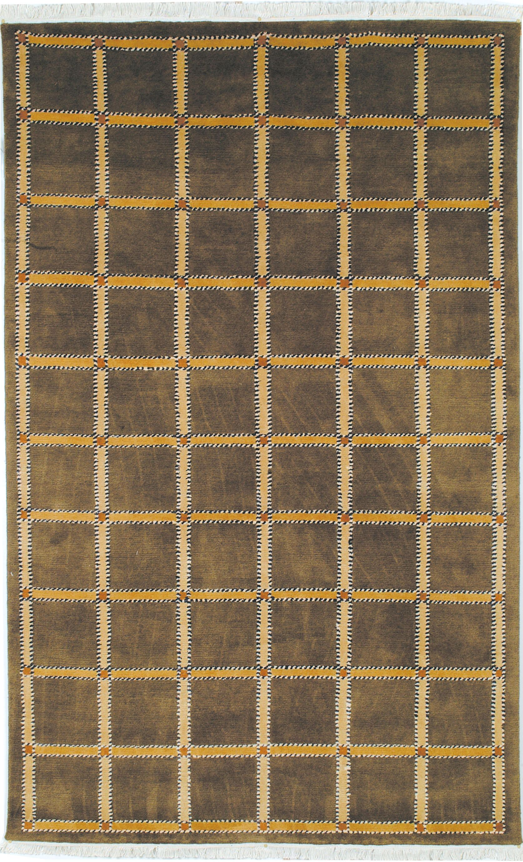 Lexington Soft Green/Beige Rug Rug Size: Rectangle 4' x 6'