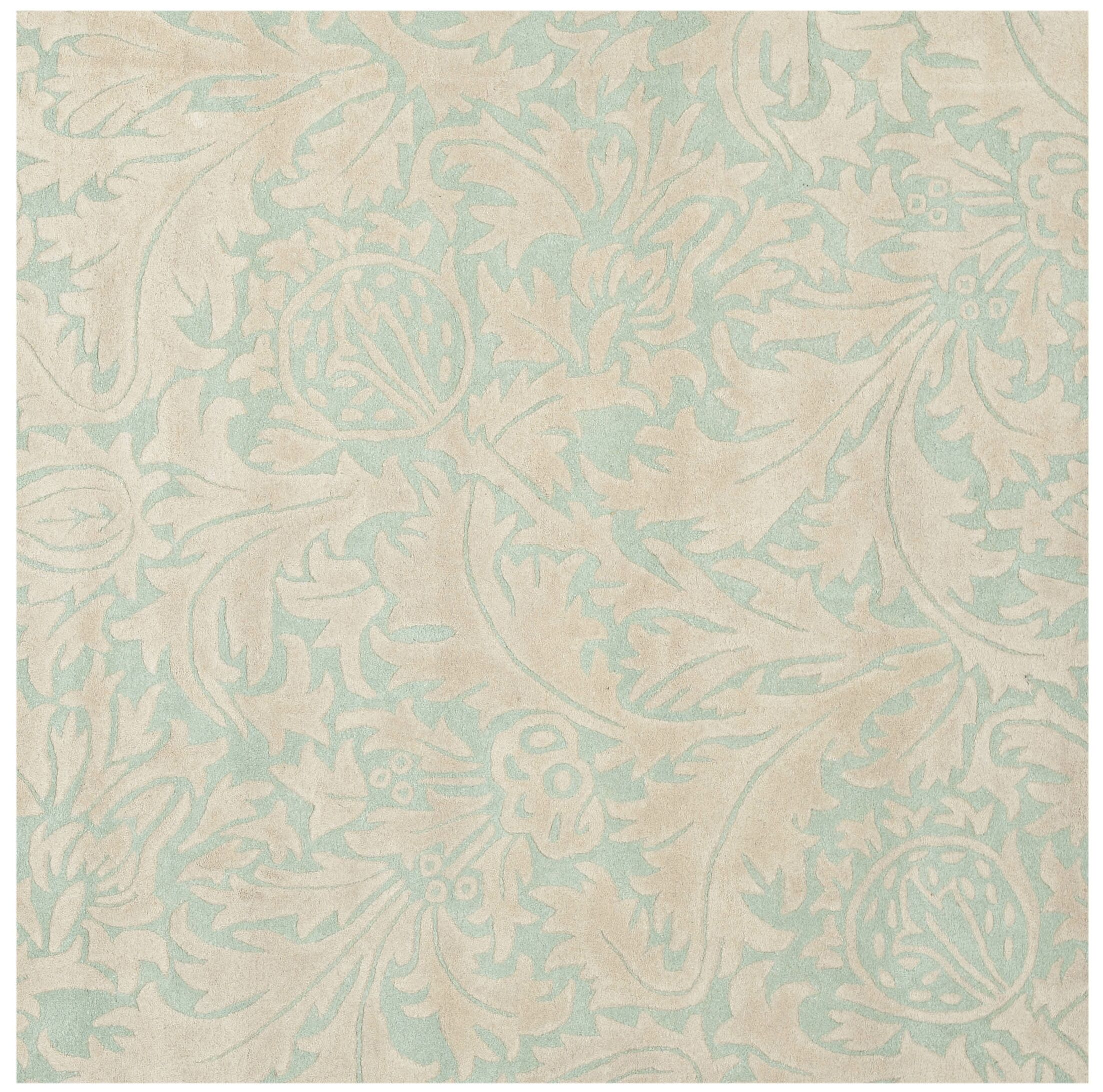 Flournoy Light Blue/Beige Rug Rug Size: Square 6'