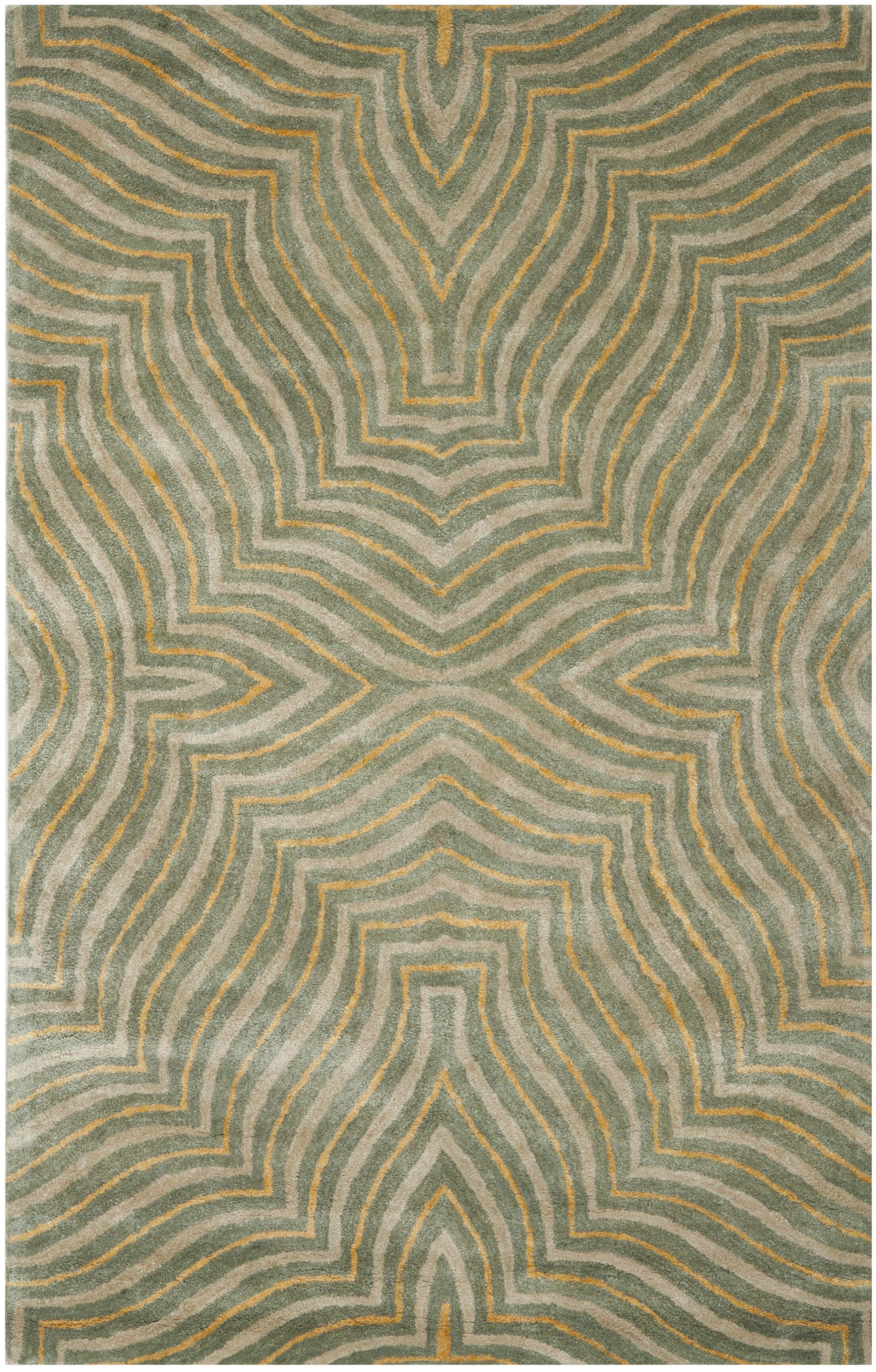 Chiara Blue/Ivory Rug Rug Size: Rectangle 5' x 8'
