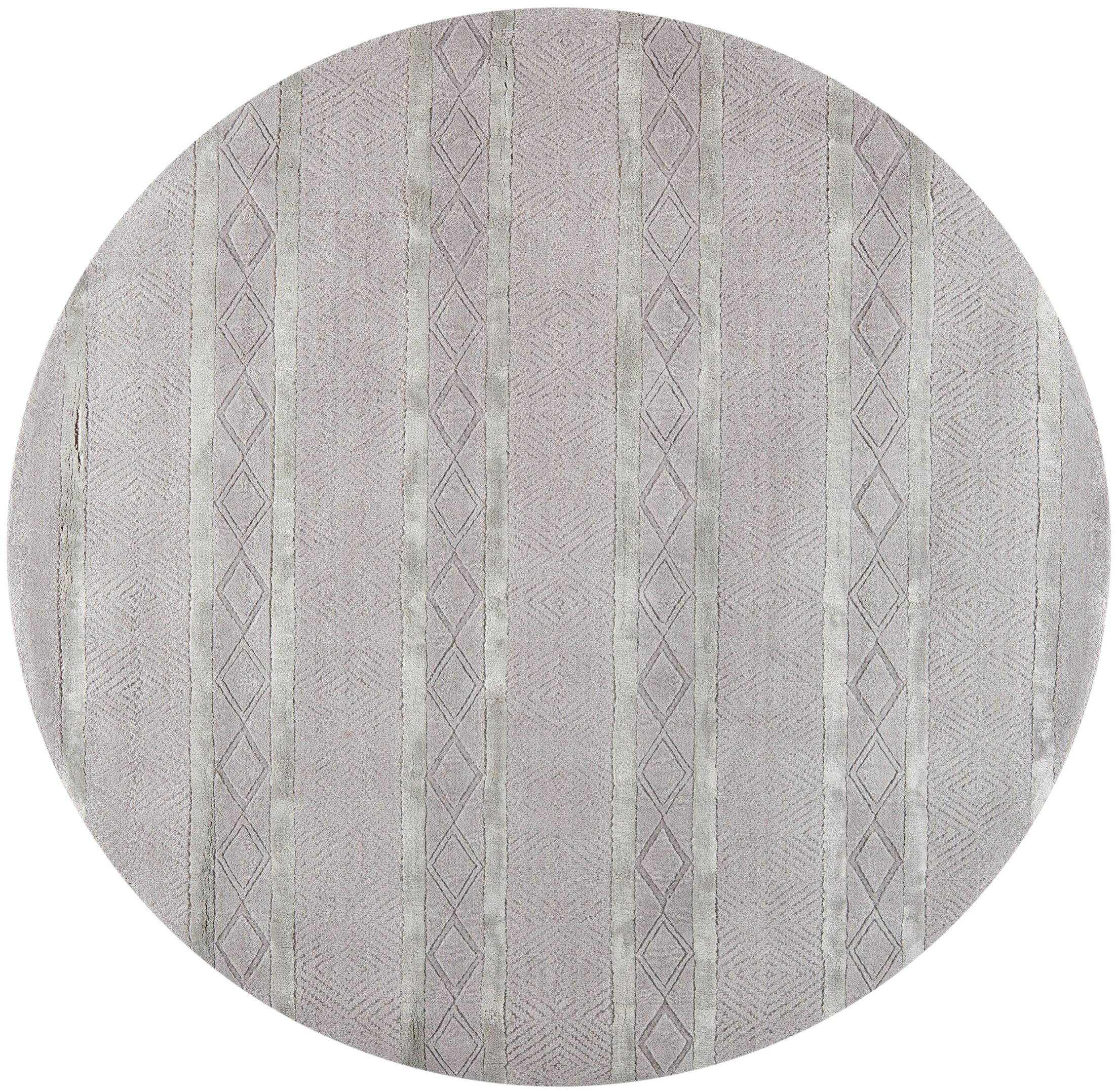Bayswater Hand-Woven Wool Light Gray Outdoor Area Rug Rug Size: Square 6'