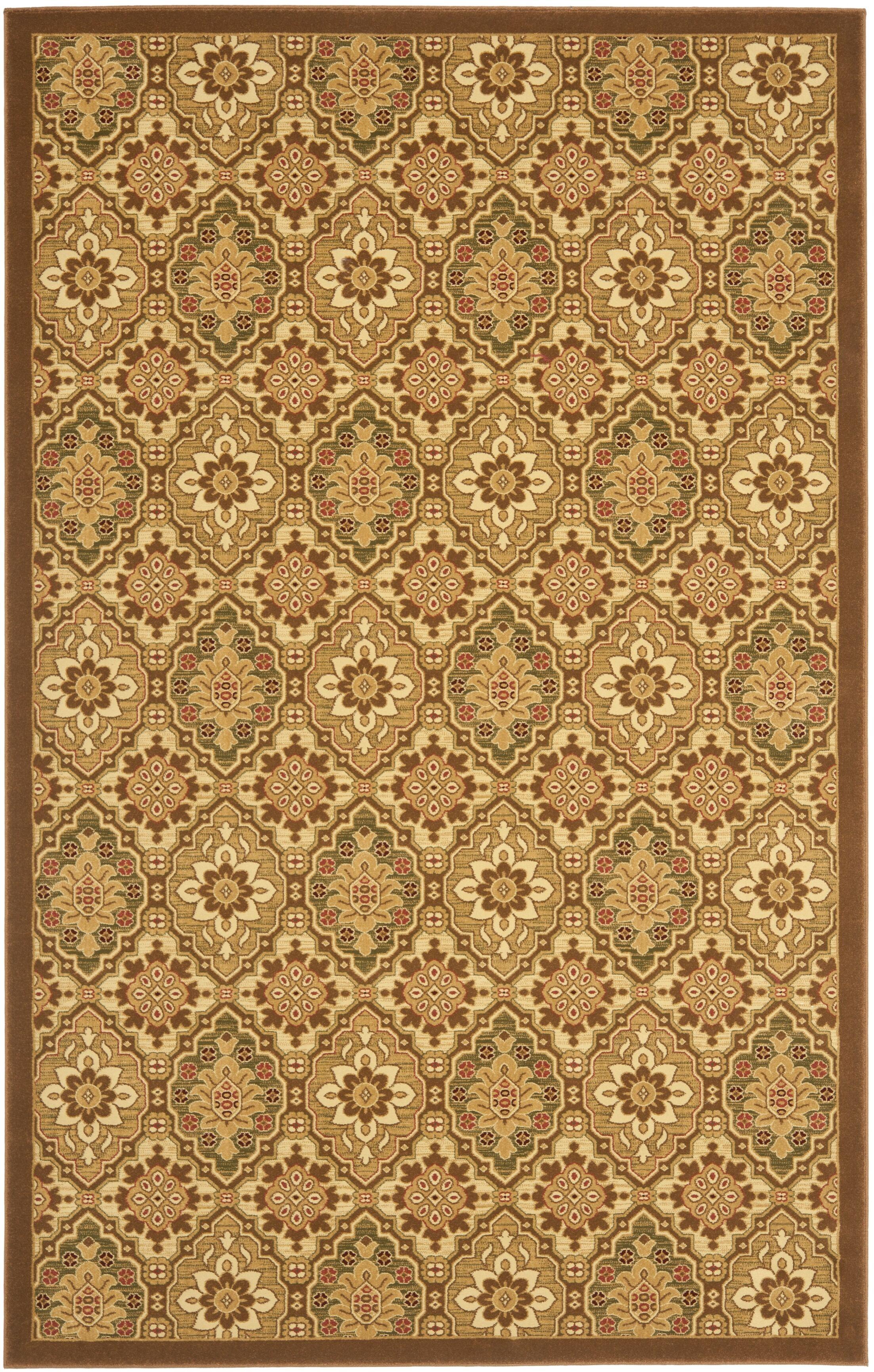 Treasures Brown Area Rug Rug Size: Rectangle 5'1